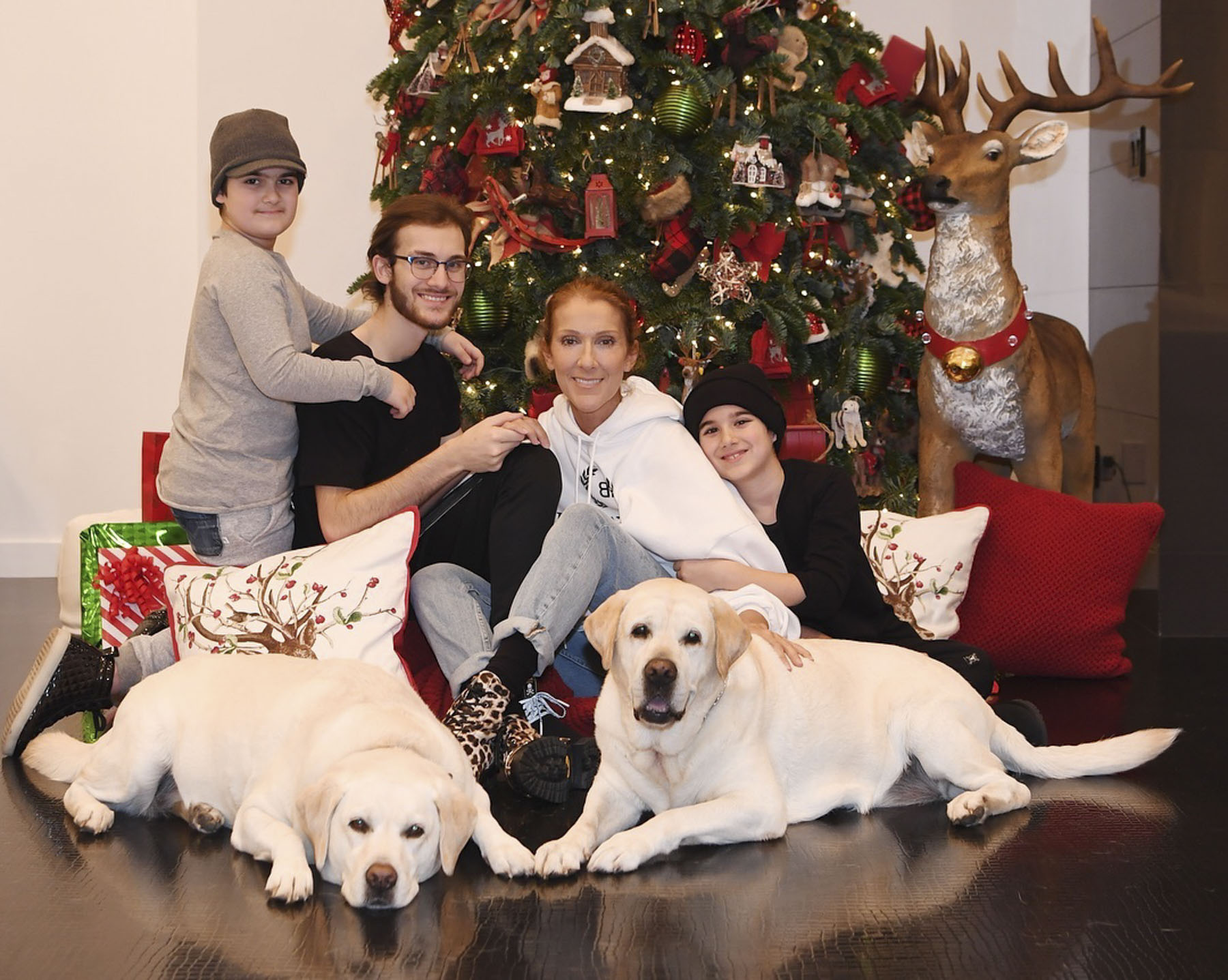 Celine Dion Smiles With Kids In Sweet Christmas Photo People Com