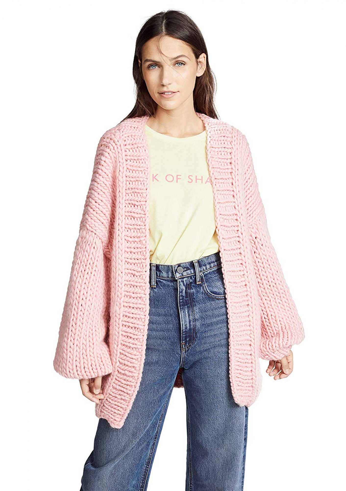 Pink Knit Sweater for Winter
