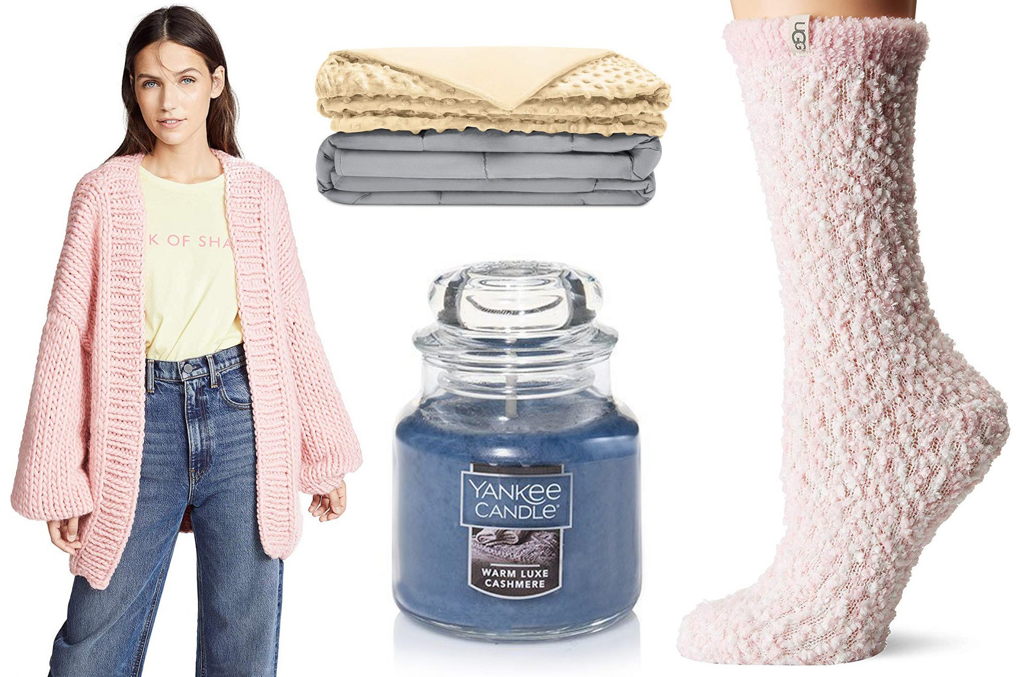Cozy Blankets Sweaters Socks Candles