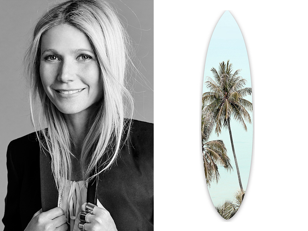 Gwyneth Paltrow's Pick: A Printed Surfboard