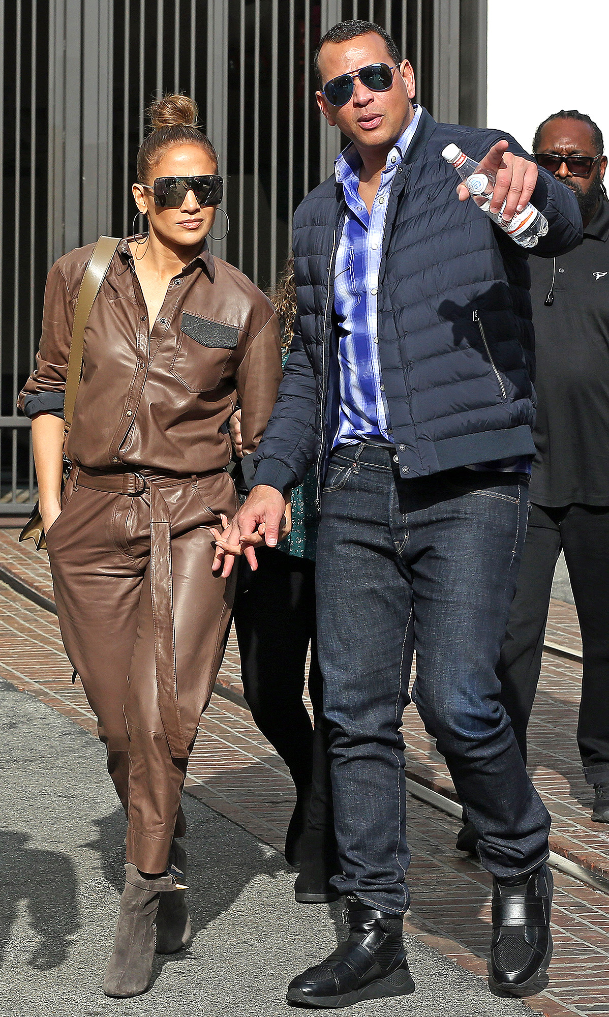 Jennifer Lopez and A rod doing some last minute Christmas shopping at the Grove in Los Angeles, CA