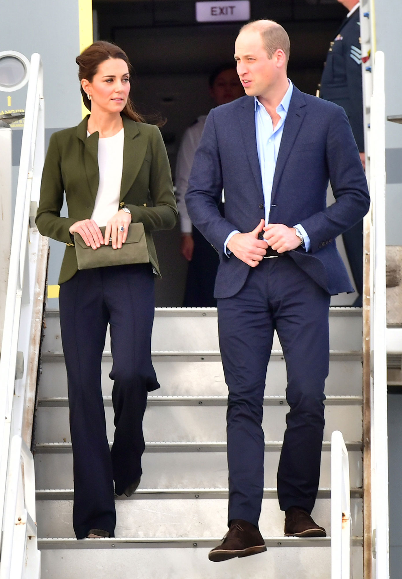 kate middleton wears pants and blazer like meghan people com https people com royals kate middleton wears wide legged pants blazer like meghan markle royal rewear
