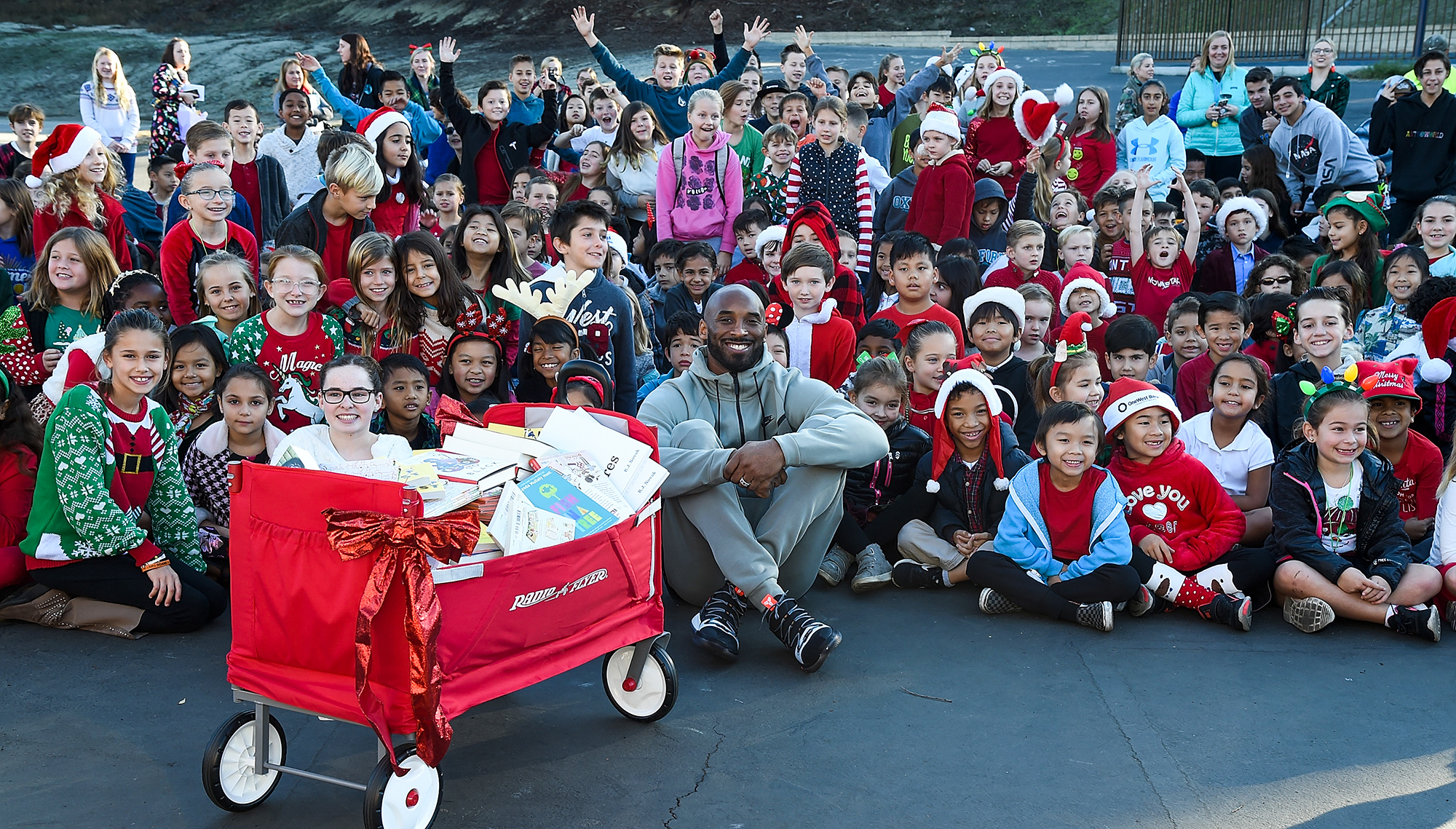 Kobe Bryant Surprises Students With Holiday Visit