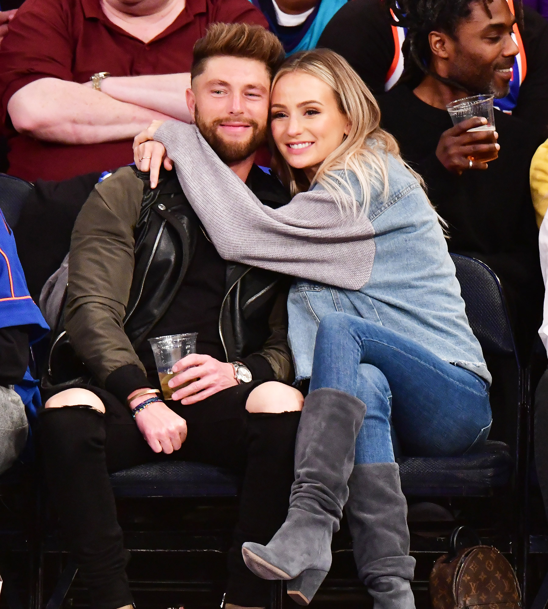 Celebrities Attend Charlotte Hornets v New York Knicks