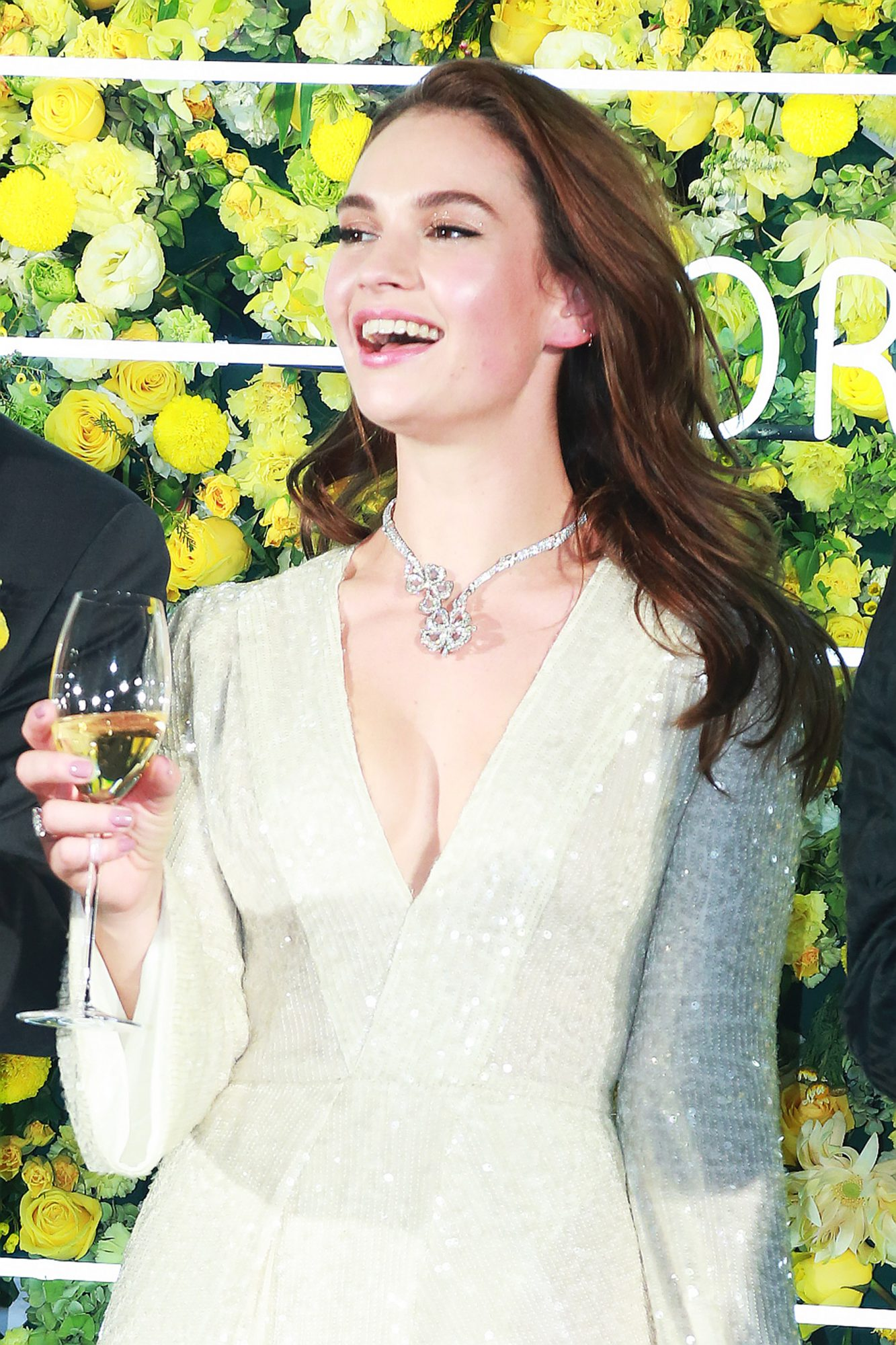 Lily James Attends Bvlgari Event In Beijing