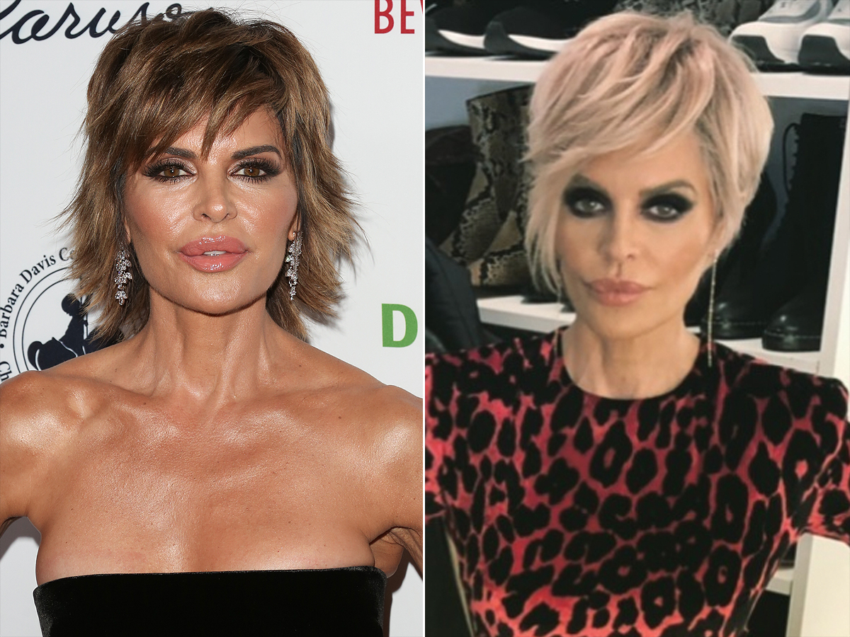 Lisa Rinna Shows Off a New Blonde Hairstyle  PEOPLE.com