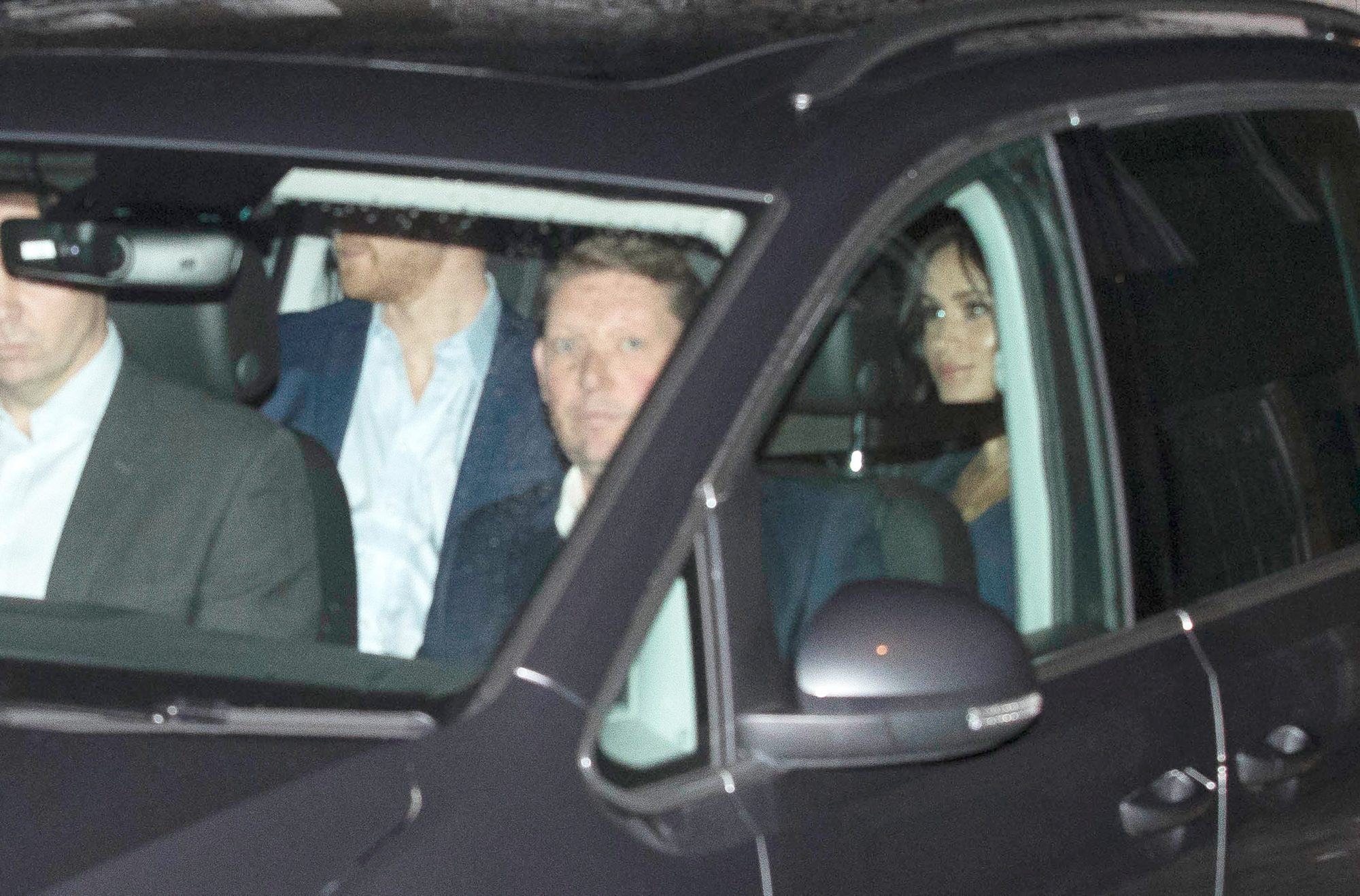 EXCLUSIVE: The Duke and Duchess of Sussex seen arriving at St Luke's Church this Evening.