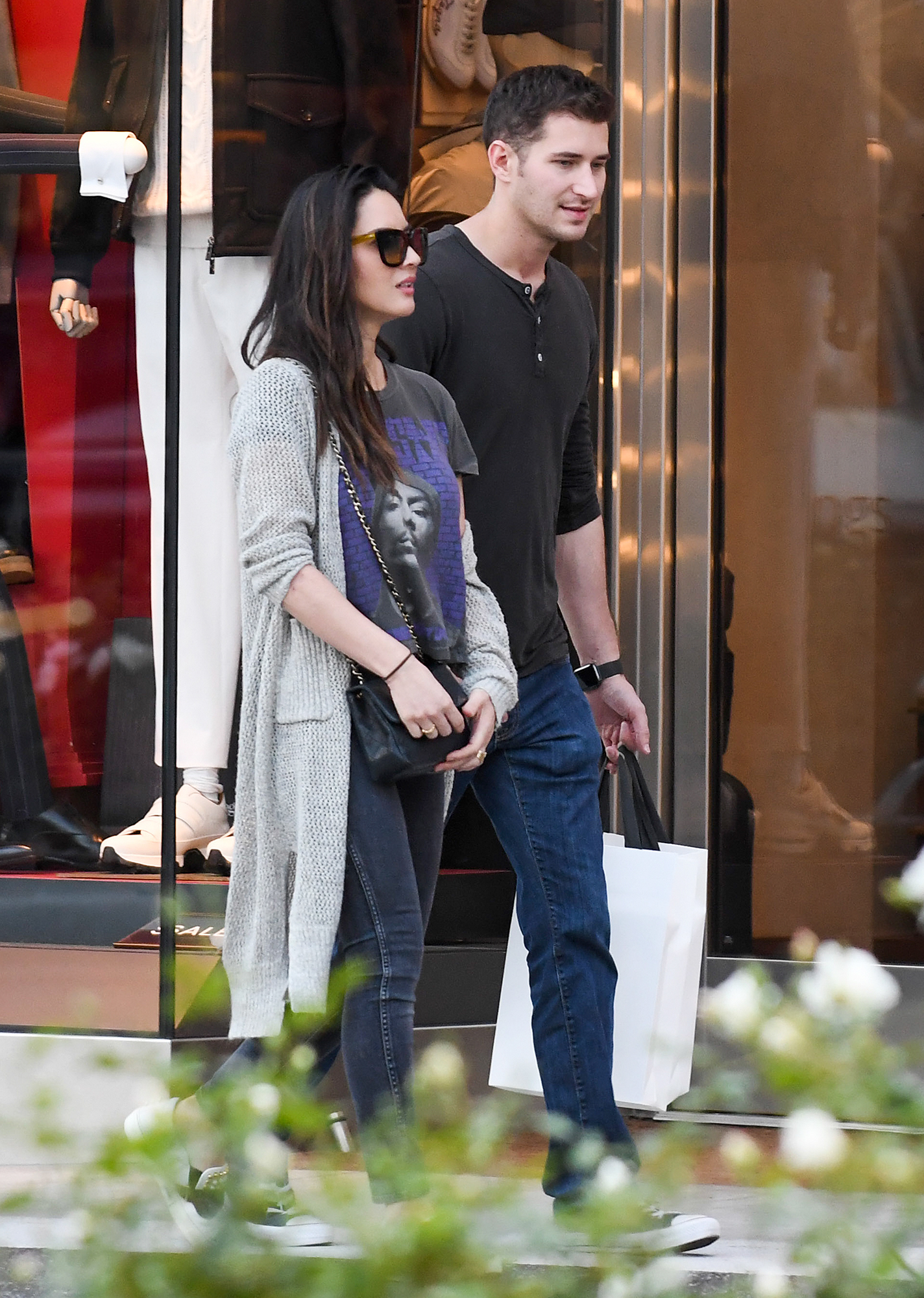 EXCLUSIVE: Olivia Munn is Spotted Shopping with Tucker Roberts in Los Angeles.