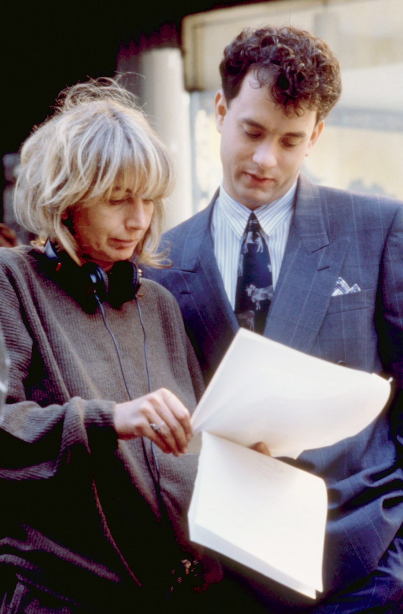BIG, Penny Marshall (director), Tom Hanks, 1988, on-set.  TM and Copyright (c) 20th Century Fox Film