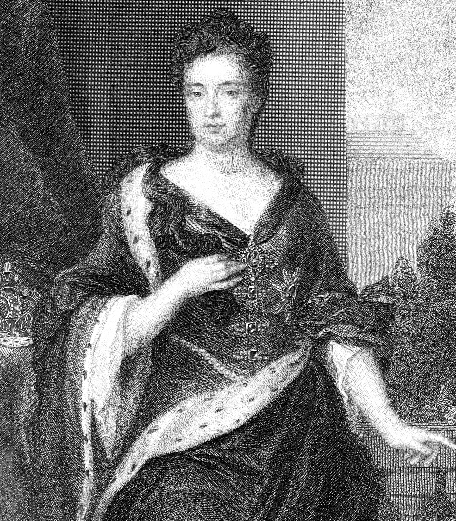 Anne (1665-1714), Queen of Great Britain and Ireland from 1702.