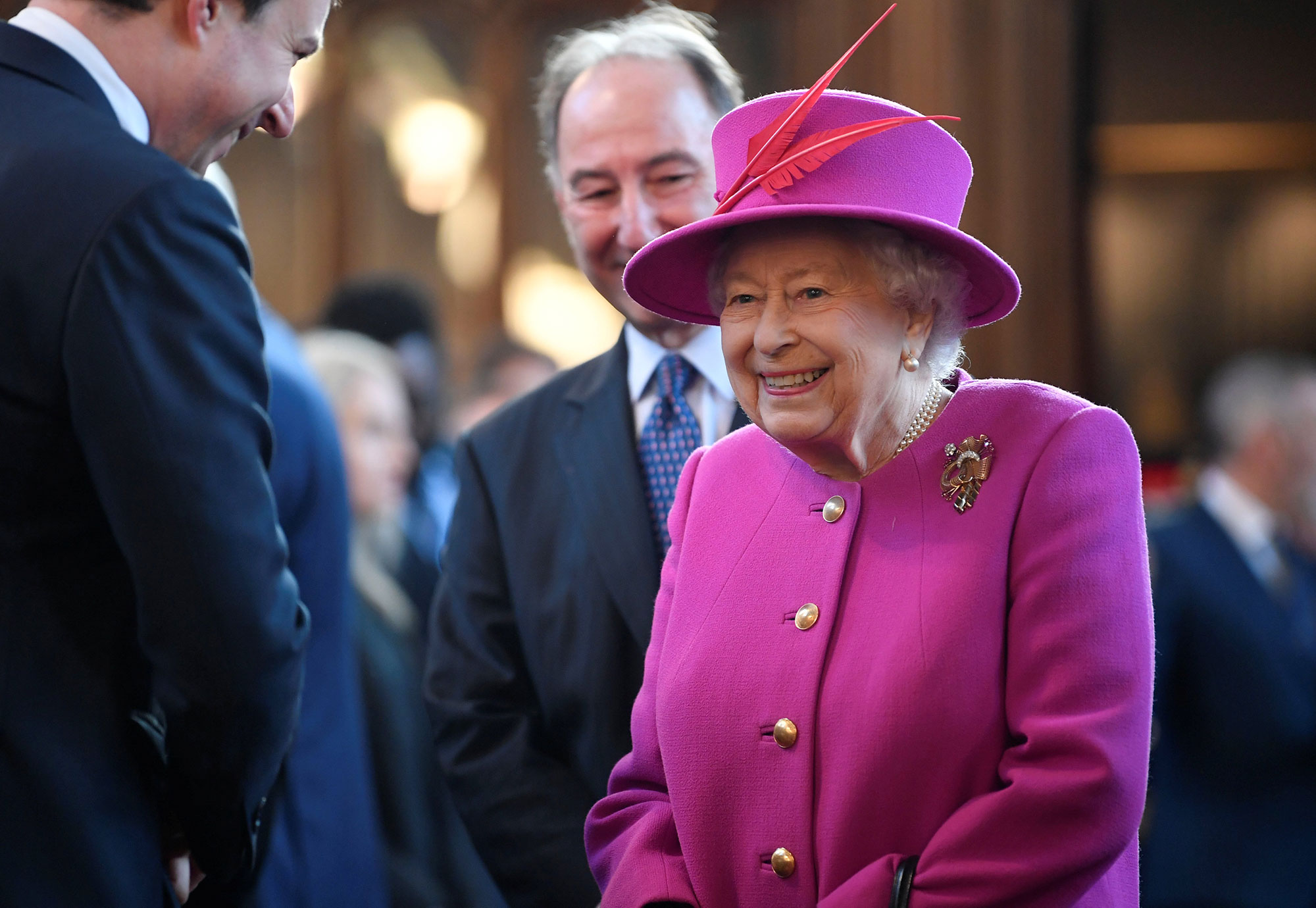 The Queen And The Duke Of York Visit The Honourable Society Of Lincoln's Inn