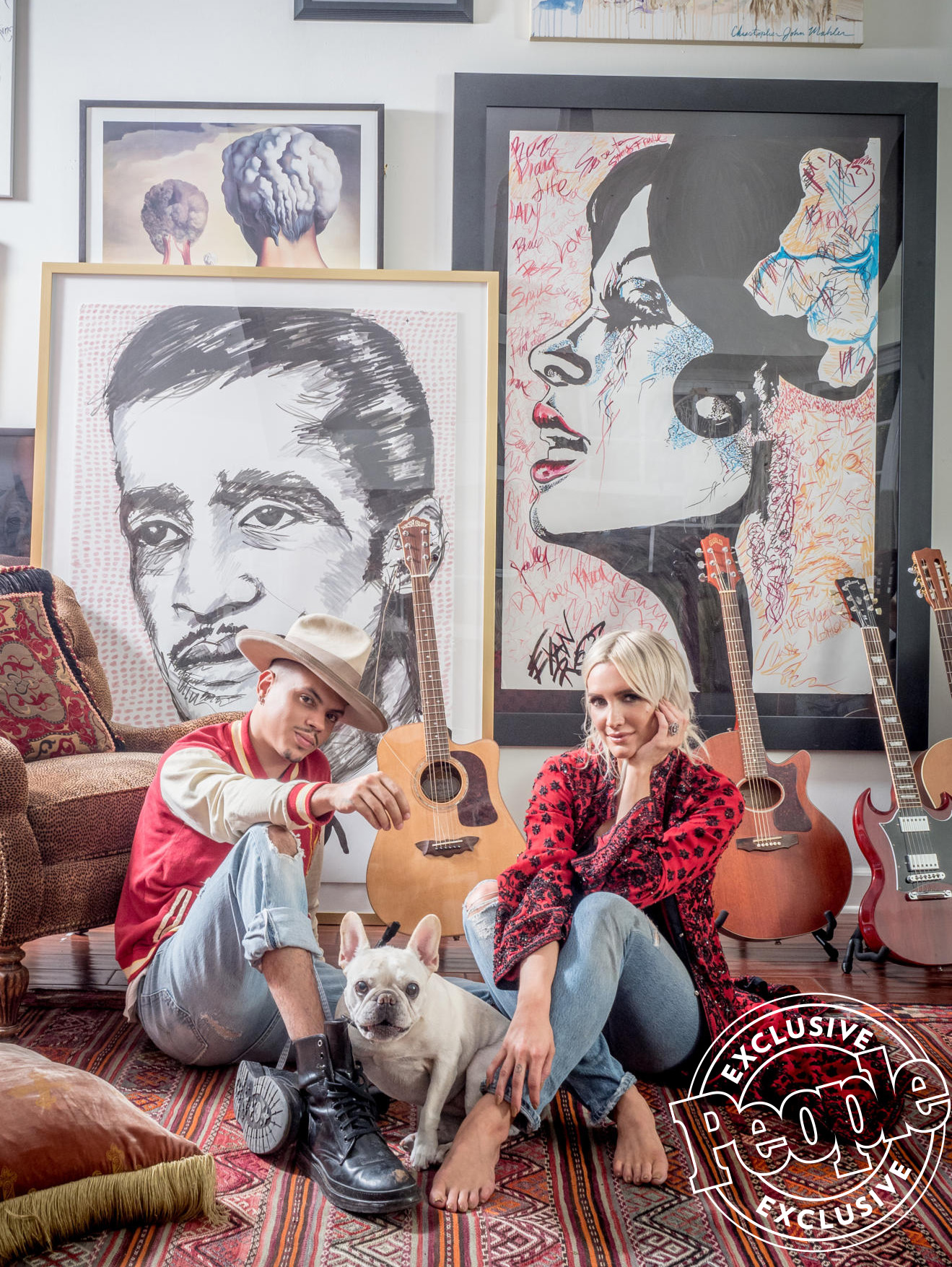 Ashlee Simpson and Evan Ross's Creative Family Pad