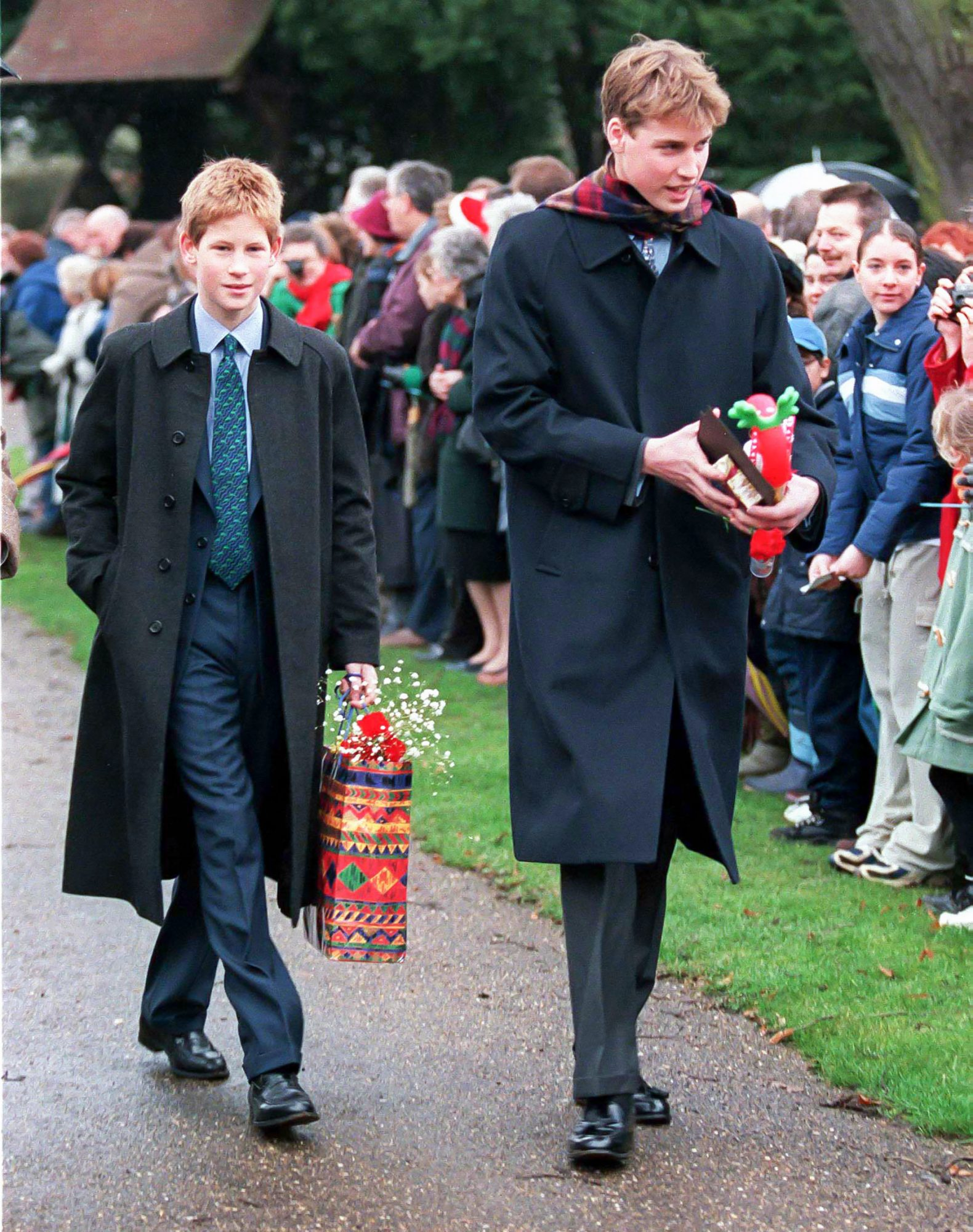 Royals attend Sandringham Church Christmas 1998