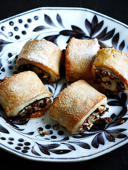 Rugelach with Cranberries, Pecans & Apple Butter