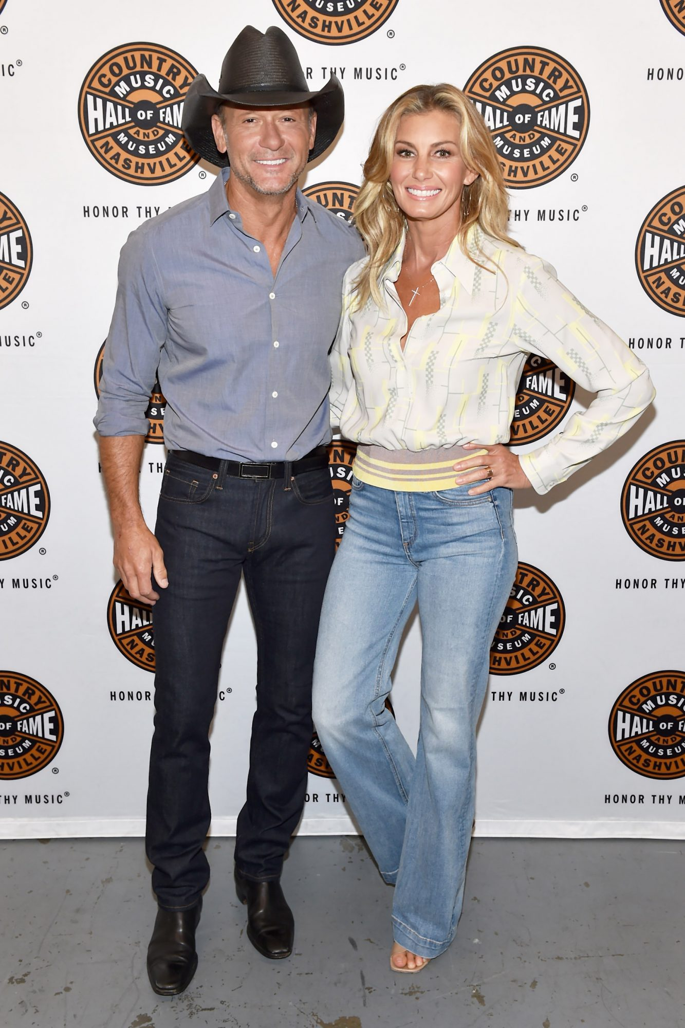 Tim McGraw & Faith Hill Participate In All Access Program At The Country Music Hall Of Fame And Museum's CMA Theater