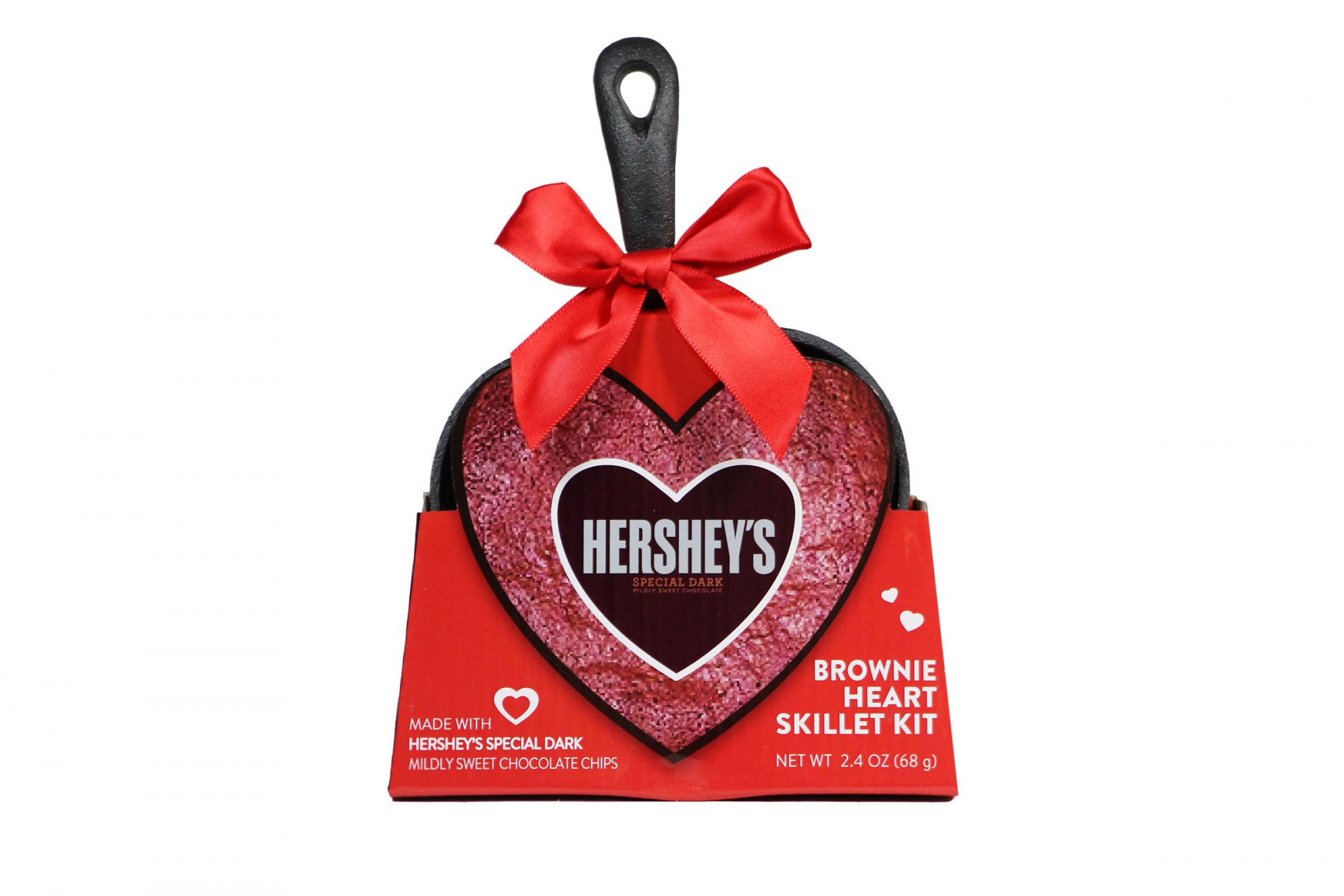 HEART SHAPE SKILLET WITH HERSHEY'S SPECIAL DARK CHOCOLATE BROWNIE MIX