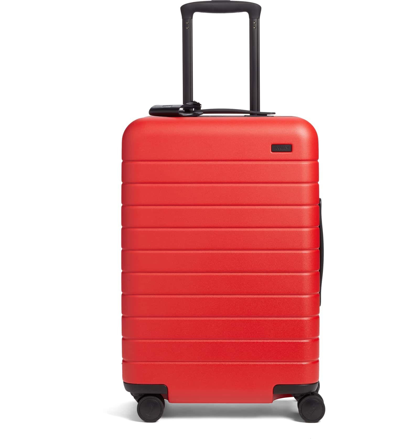 Celeb-Loved Luggage Brand at Nordstrom: Away The Bigger Carry-On Hard Shell Suitcase in Red