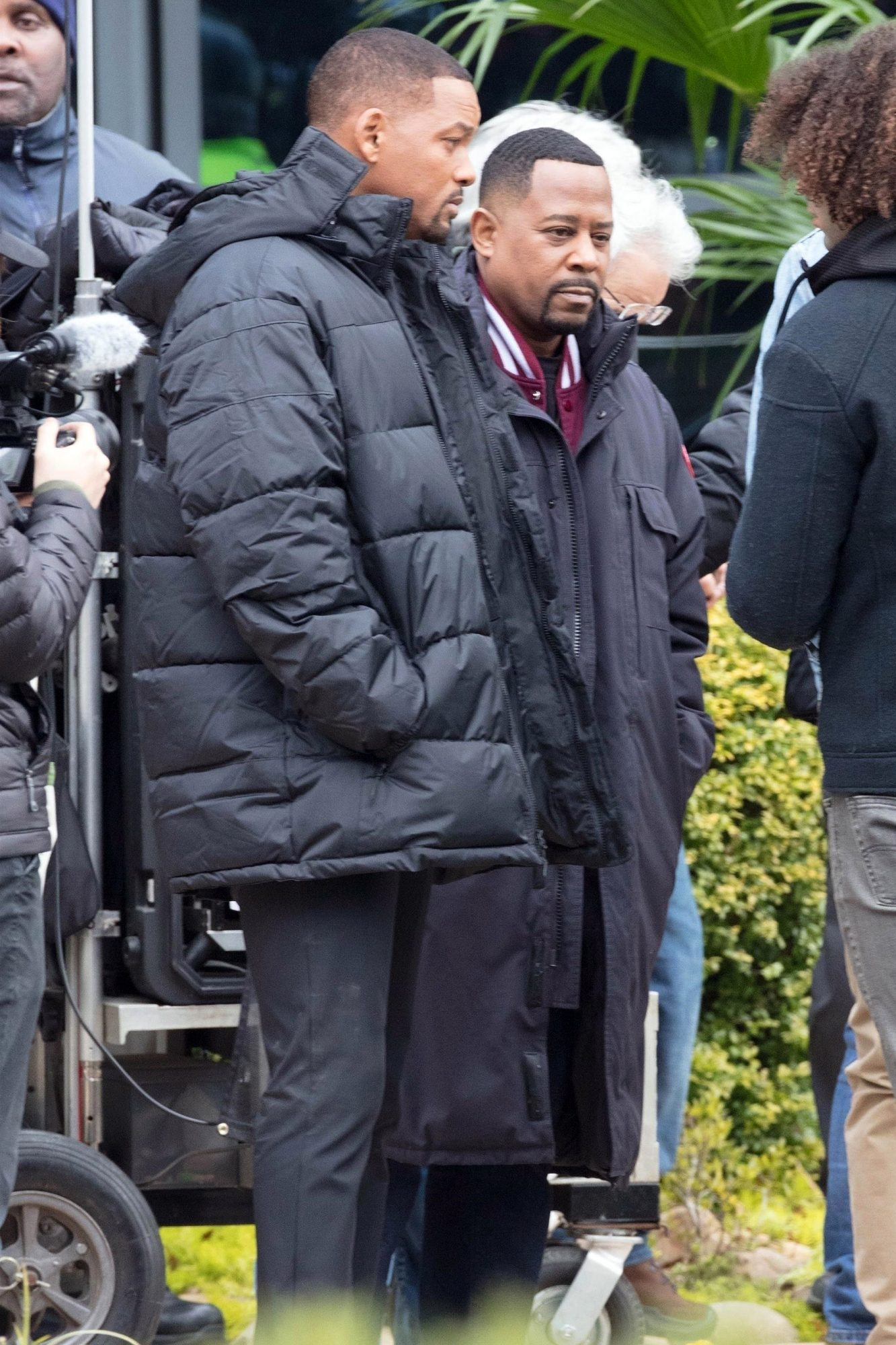 """*EXCLUSIVE* Will Smith and Martin Lawrence are spotted shooting """"Bad Boys'' followup 24 years after first hit film was released"""