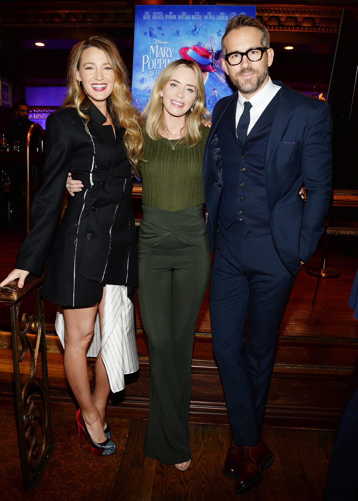 Ryan Reynolds and Blake Lively Host a Reception Followed by a Special Screening of Mary Poppins Returns