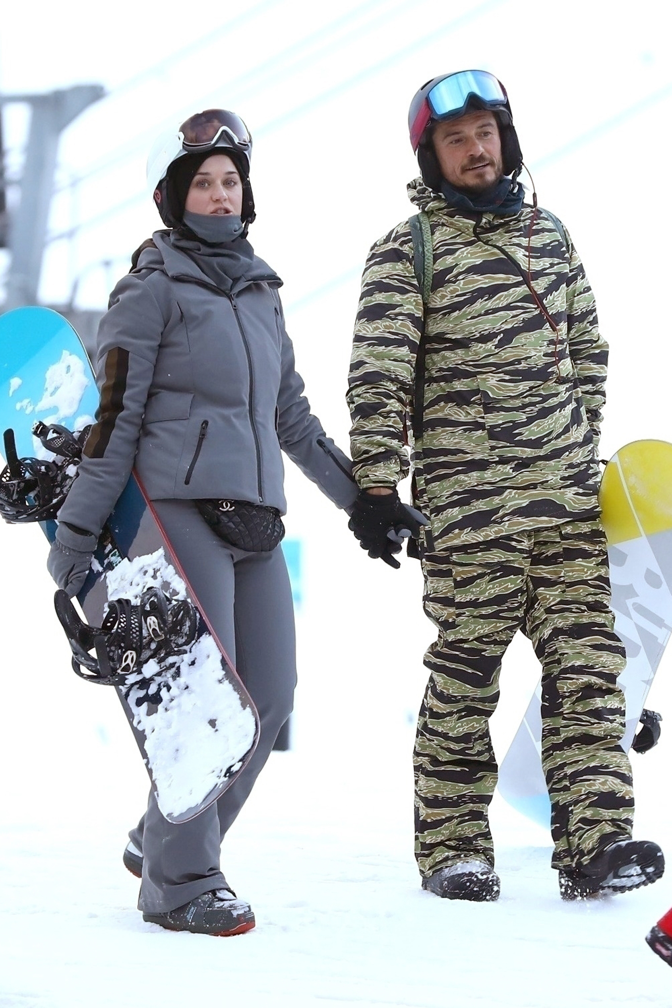 *EXCLUSIVE* Katy Perry and Orlando Bloom hit the slopes in Aspen
