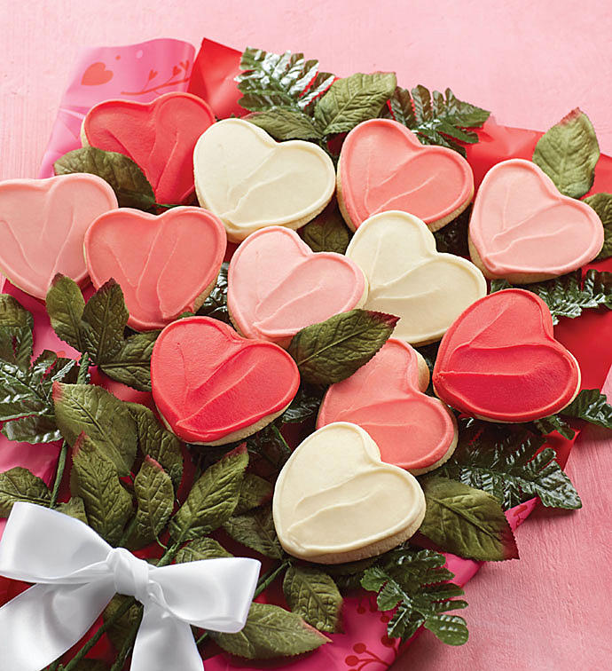 Unique Valentine's Day Gifts: Cheryl's Valentine Long Stemmed Cookie Flowers