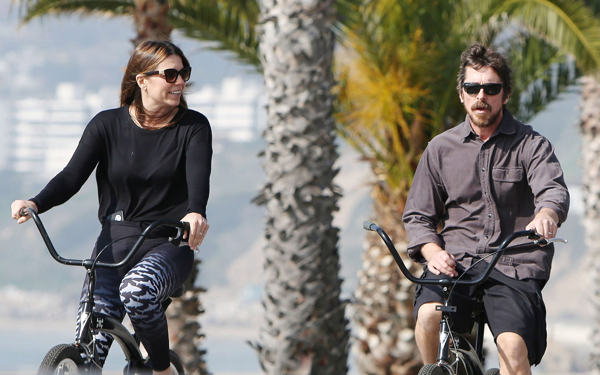 Christian Bale and Sibi Blazic out and about, Los Angeles, USA - 29 Jan 2019