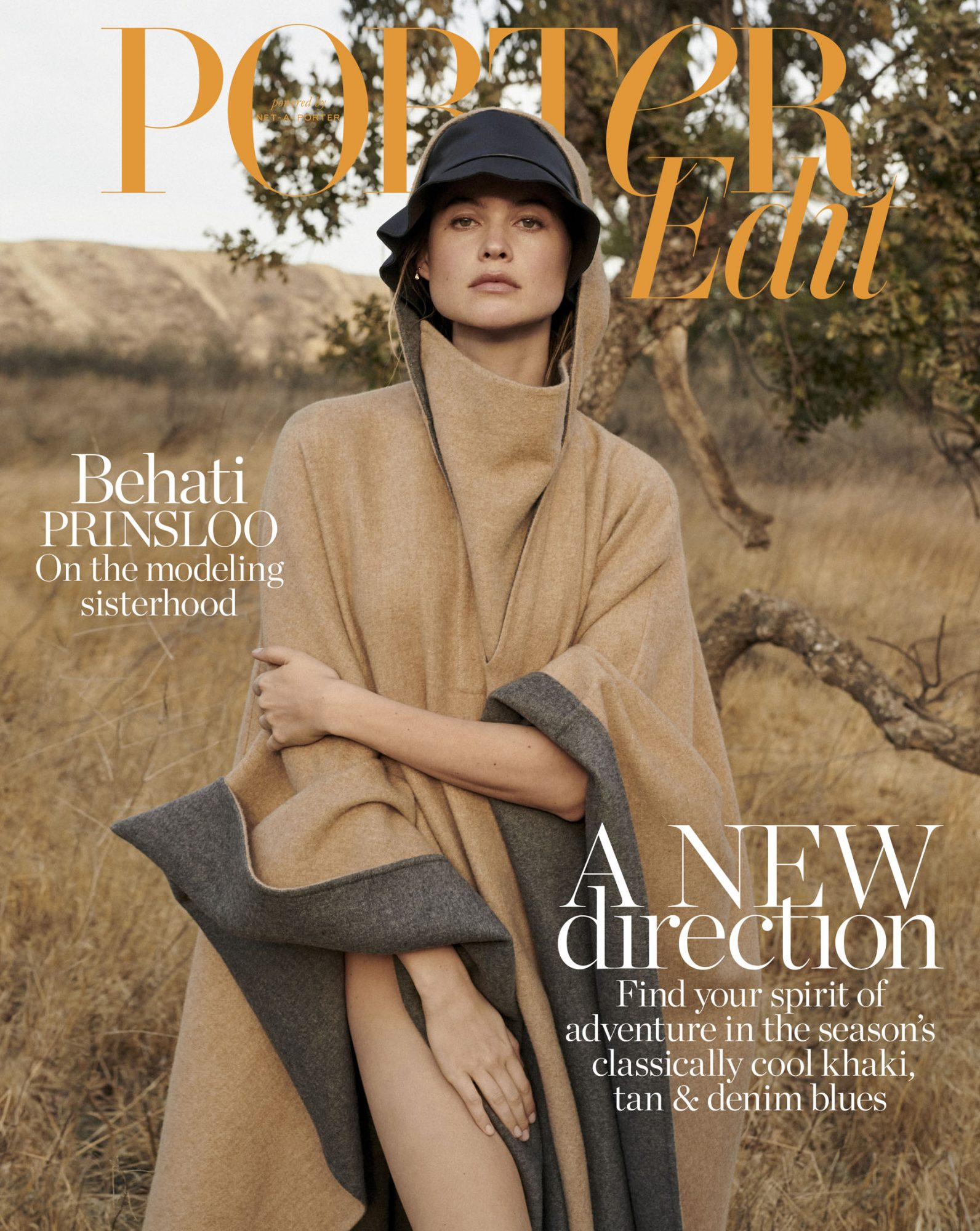 cover_behati prinsloo wears cape givenchy; hat albus lumen. photographed by alexandra nataf for porteredit