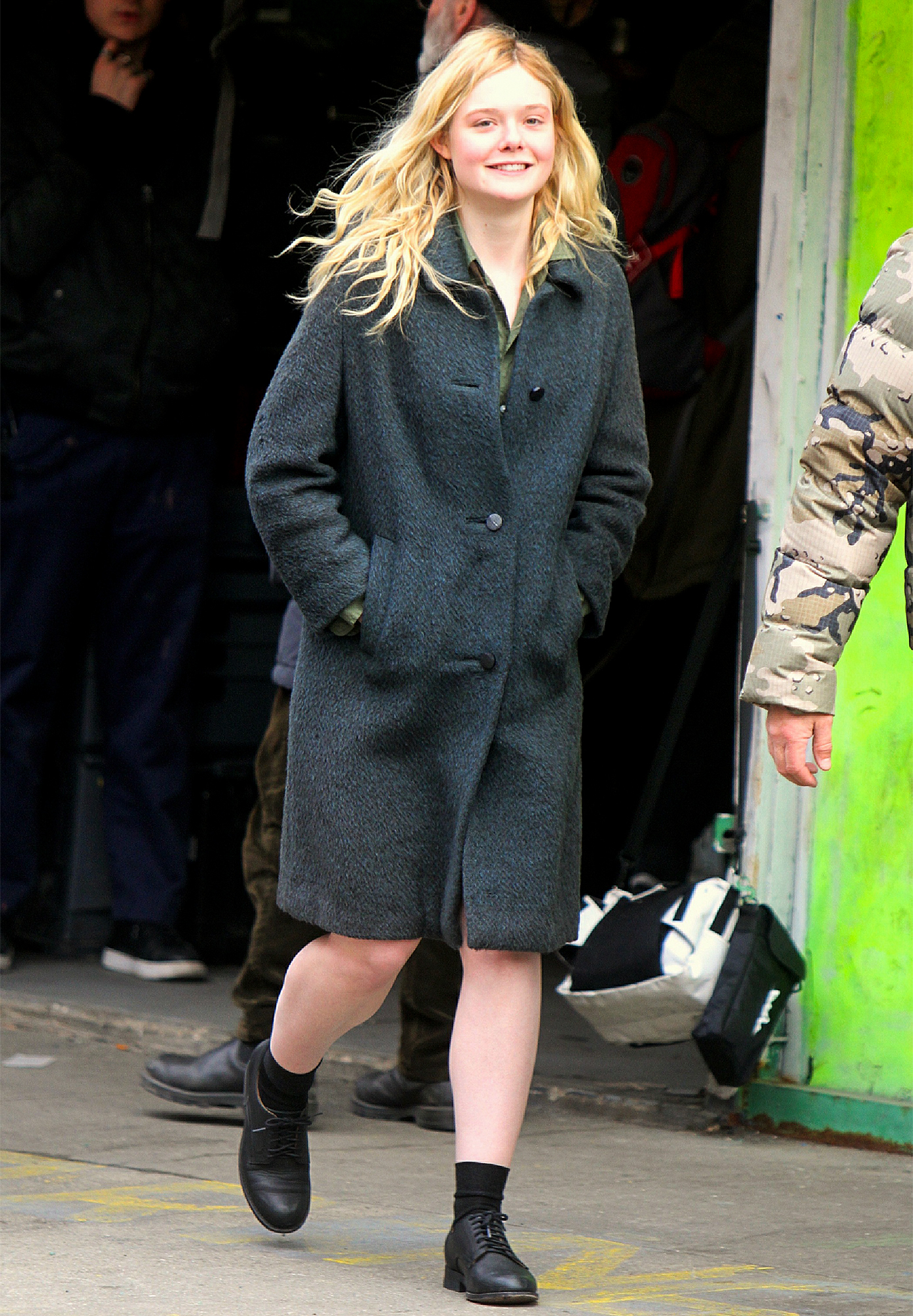 Elle Fanning and Javier Bardem film Molly in a Garage