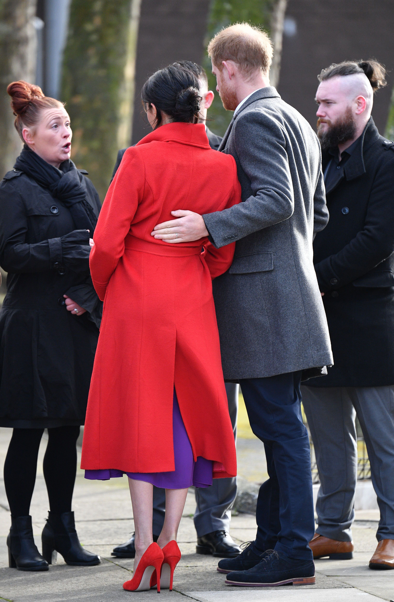 Prince Harry and Meghan Duchess of Sussex visit to Birkenhead, UK - 14 Jan 2019