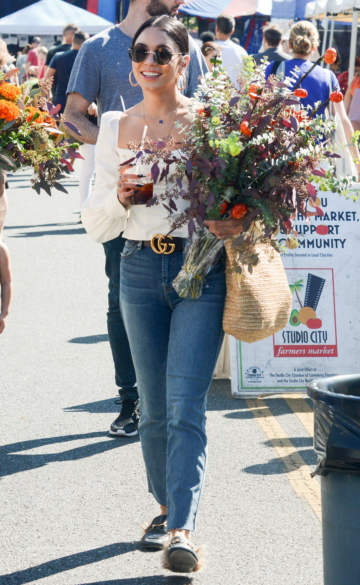 EXCLUSIVE: Vanessa Hudgens Spotted At A Farmers Market In Los Angeles