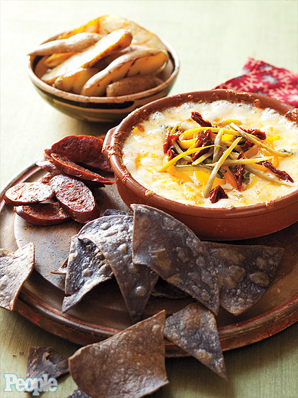 Jessica Simpson's queso and tortillas dip.