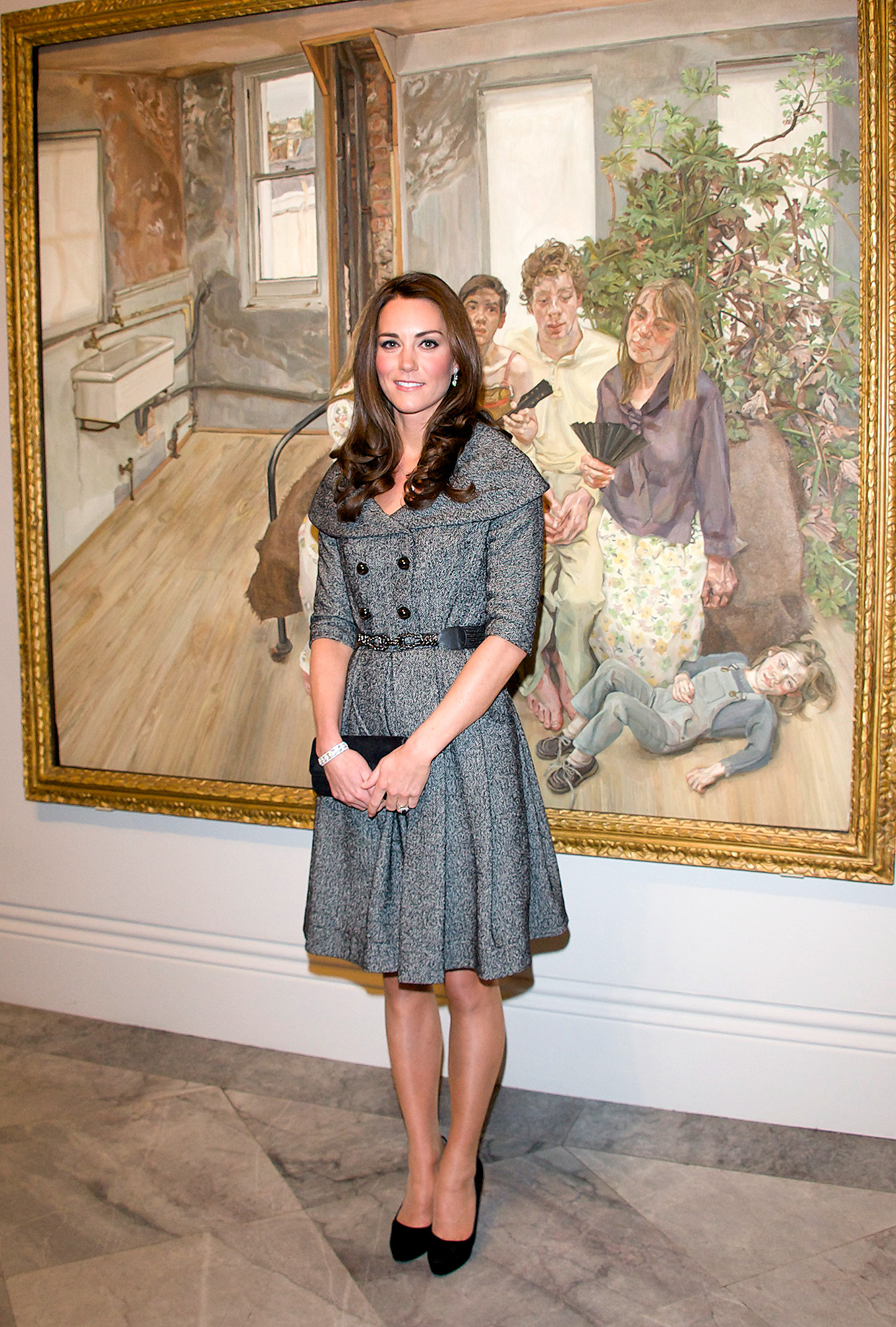 The Duchess of Cambridge Visits Lucian Freud Portraits Exhibition