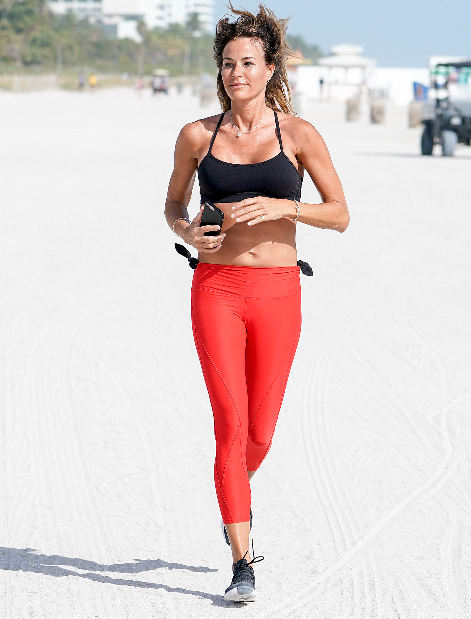 Kelly Bensimon Is Seen During A Run Along The Beach In Miami