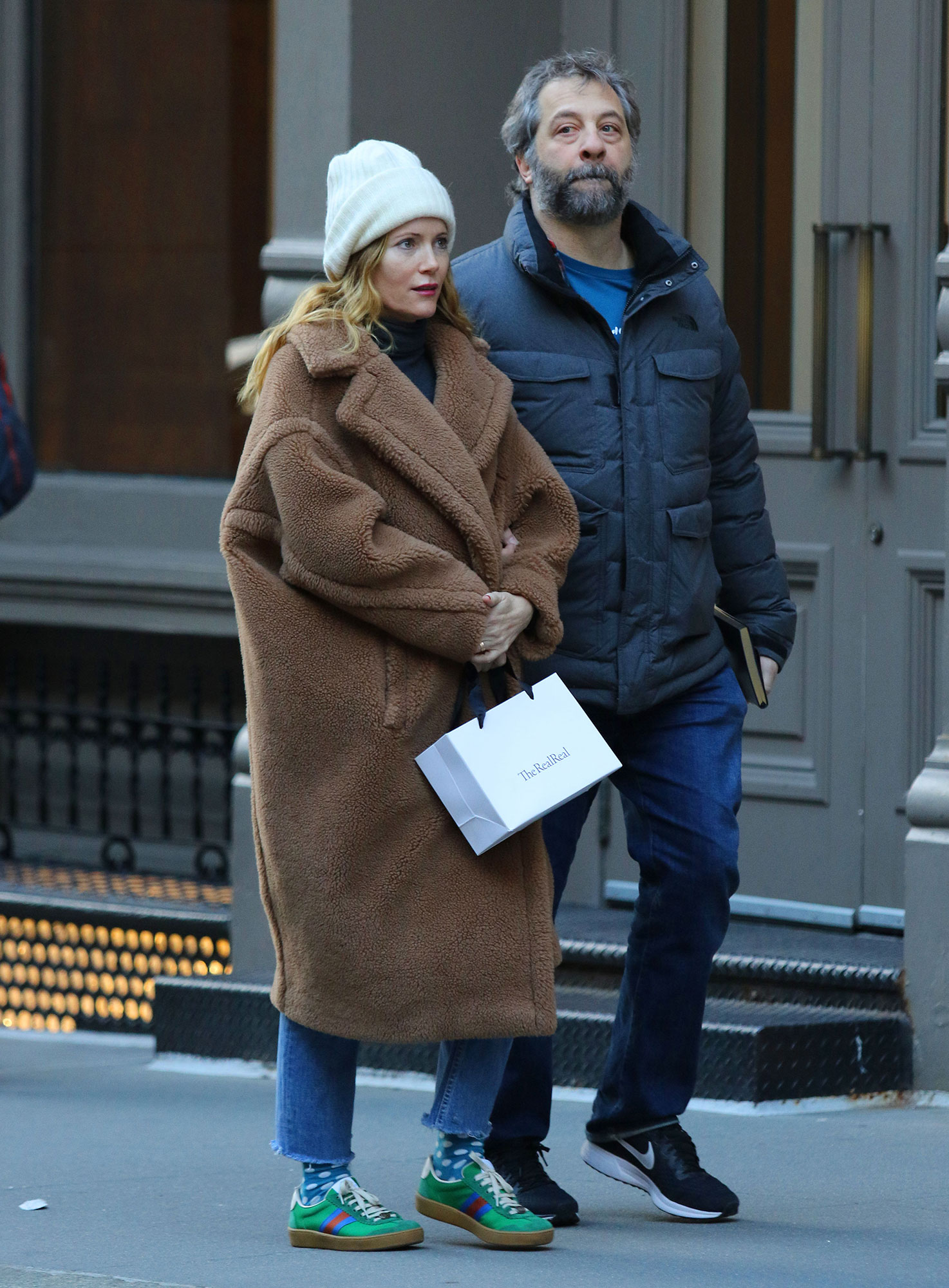 Leslie Mann and Judd Apatow shopping in New York City