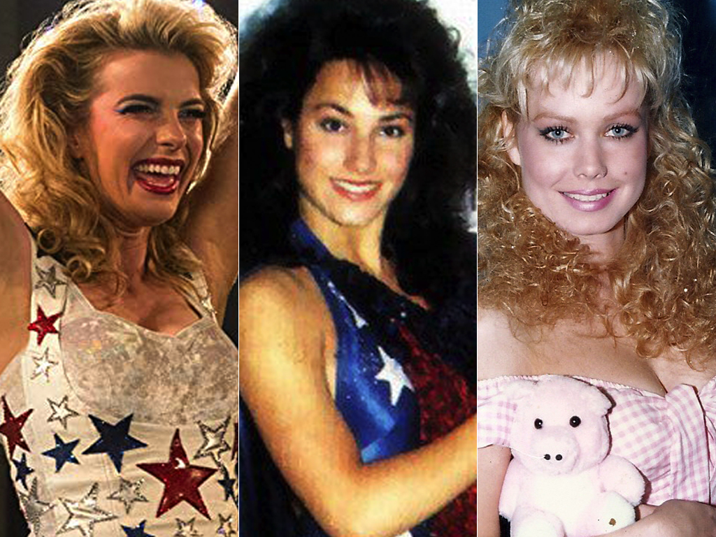 "Betty Gilpin (""Debbie Eagen/Liberty Belle"") & Cindy Maranne (""Americana"") & Ursula Hayden (""Babe the Farmer's Daughter"")"