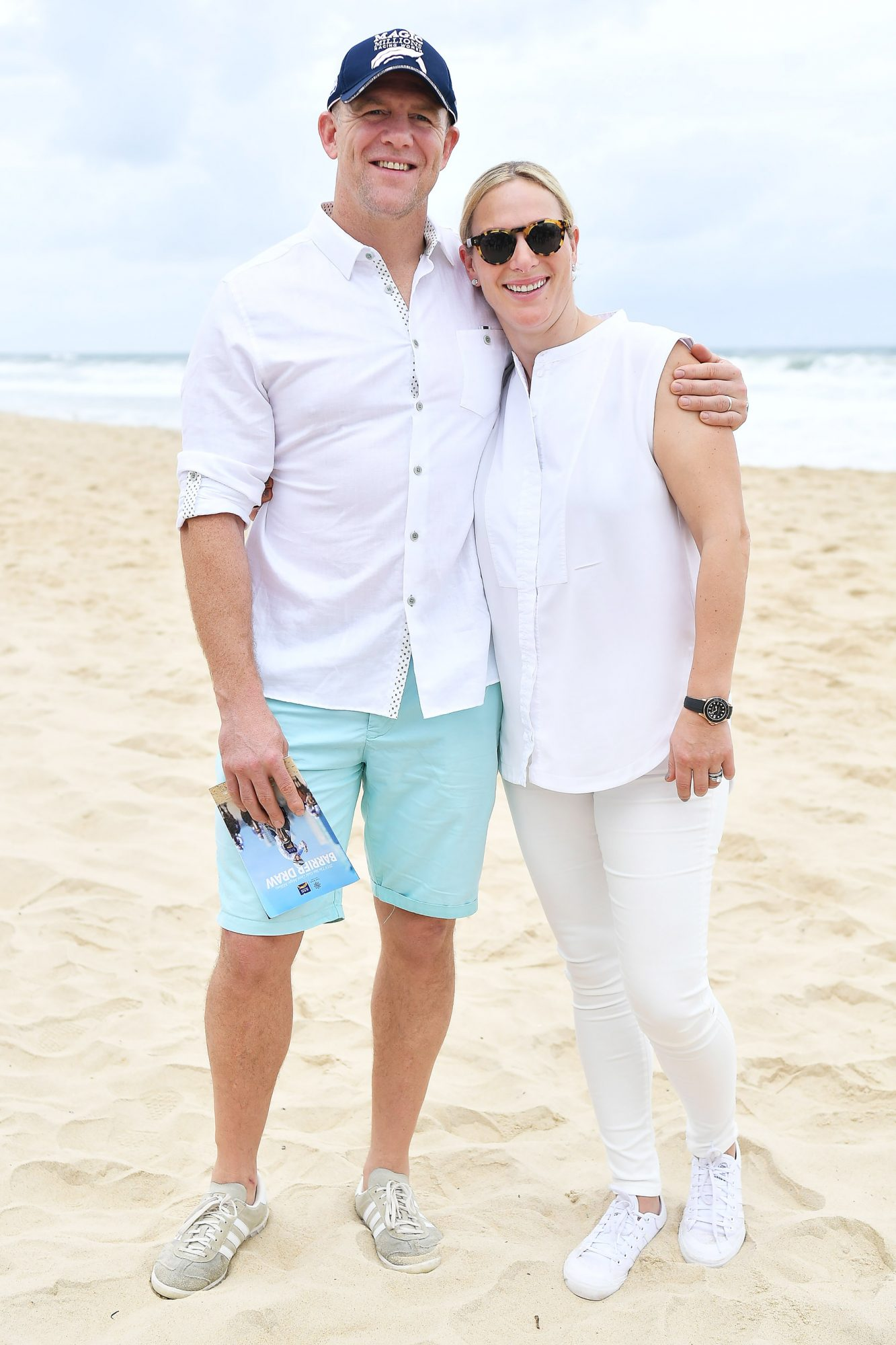 Zara Phillips & Mike Tindall At The Magic Millions Barrier Draw On Surfers Paradise Beach