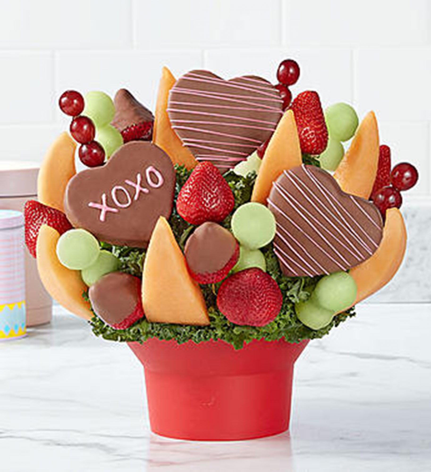 Unique Valentine's Day Gifts: Hearts and Kisses Fruit Bouquet