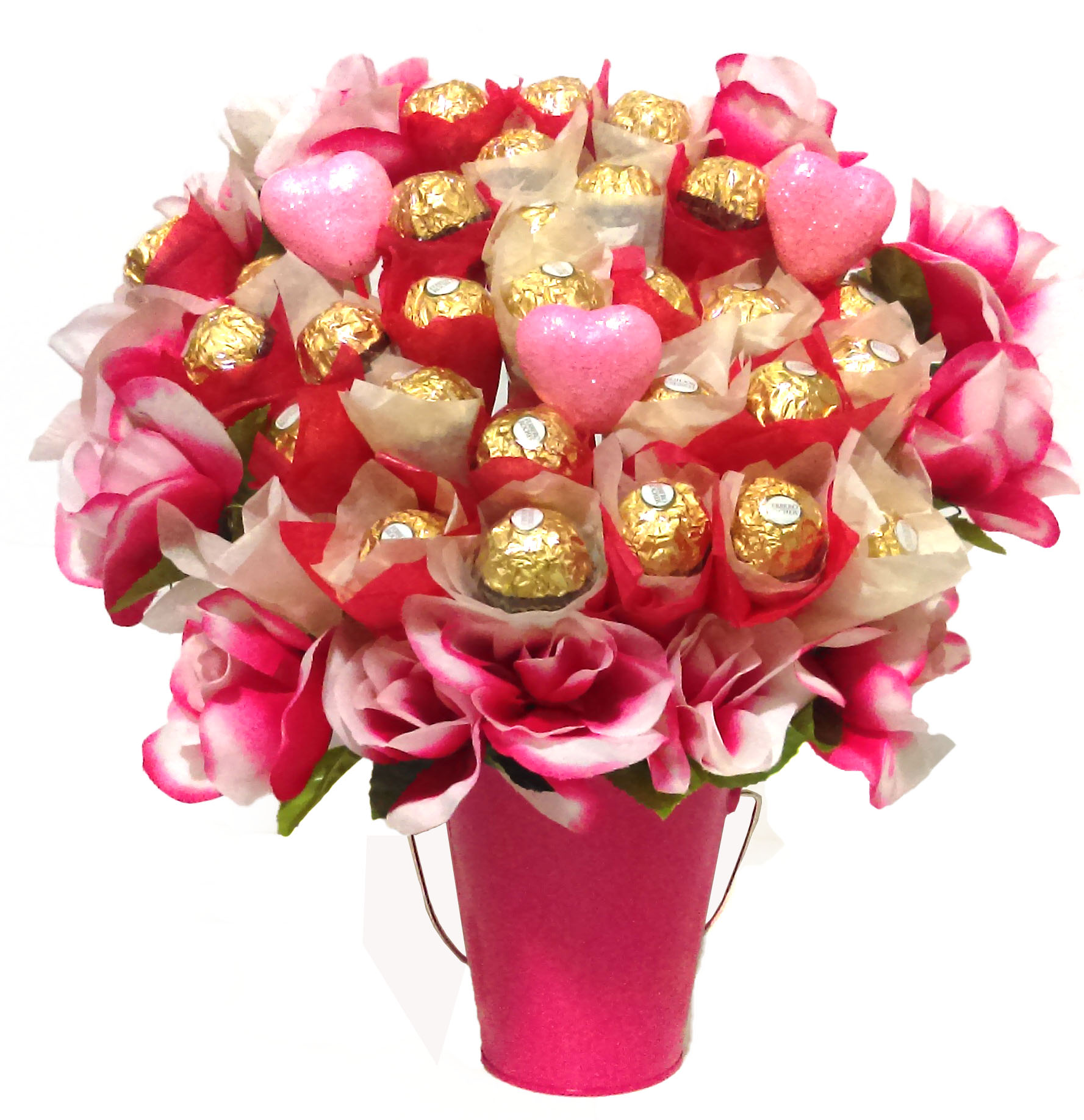 Unique Valentine's Day Gifts: Pink Rose Ferrero Rocher Bouquet