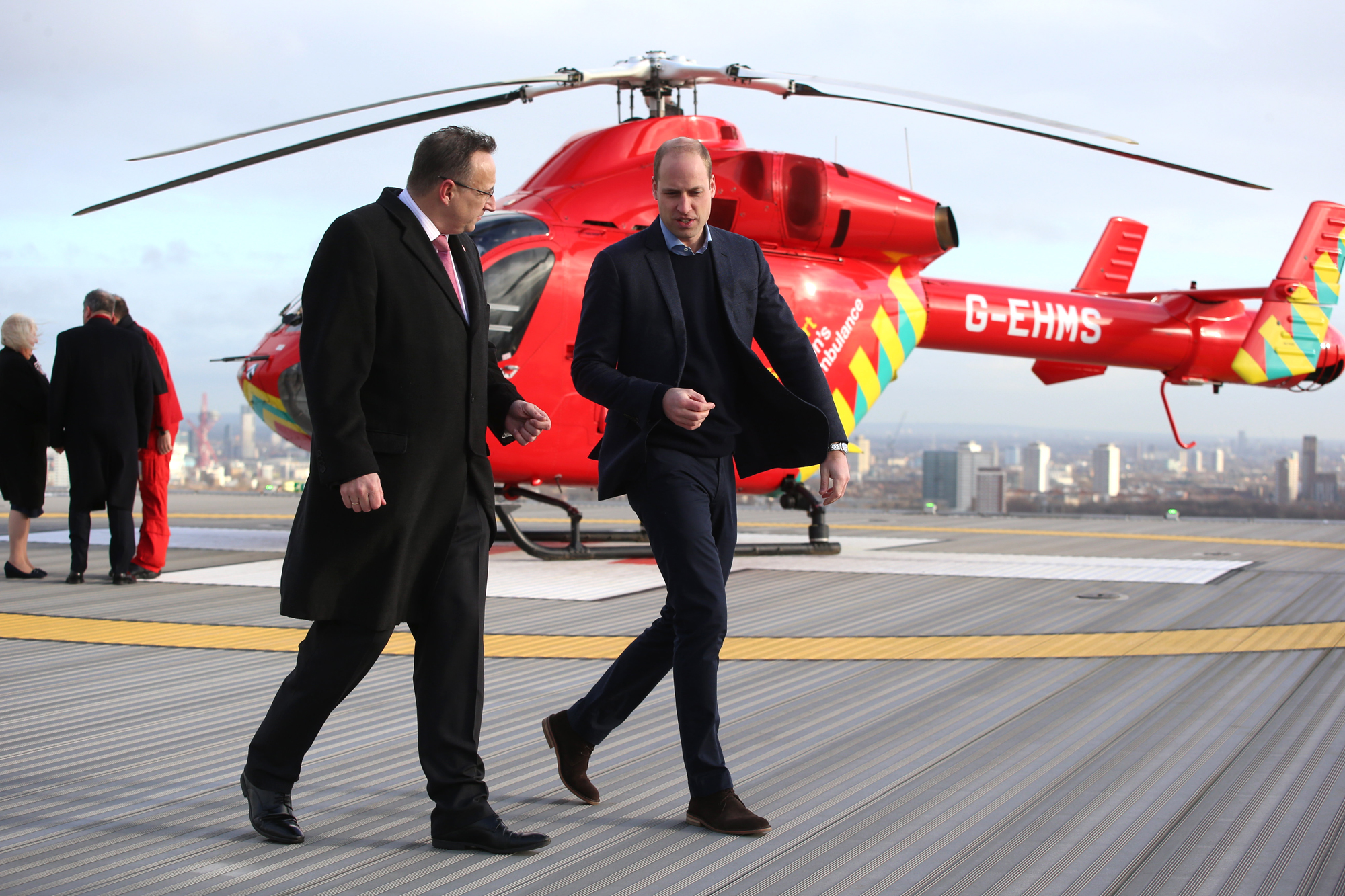 The Duke Of Cambridge Visits London's Air Ambulance Charity