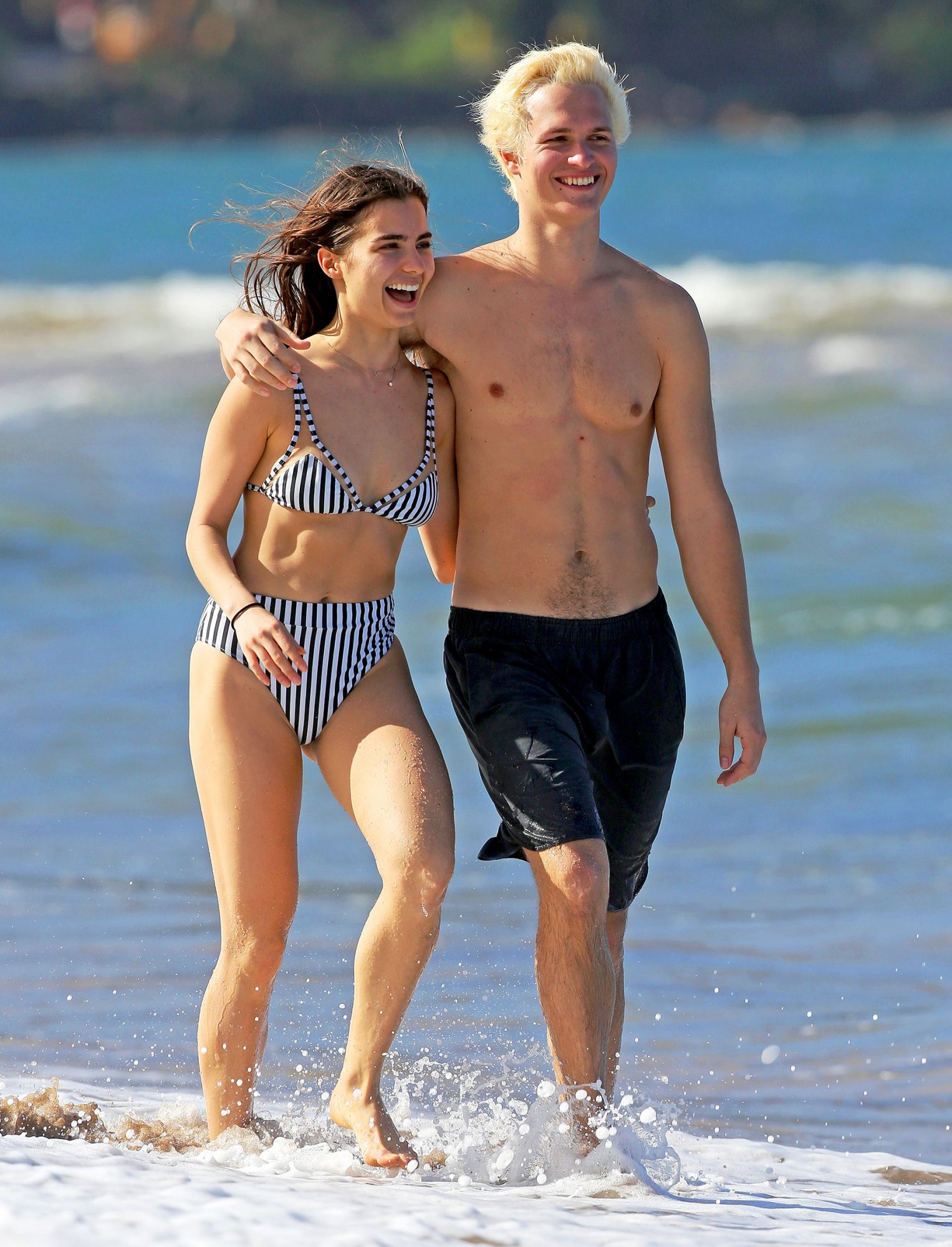 EXCLUSIVE: Ansel Elgort And Girlfriend Violetta Komyshan Pack On The PDA While On Holiday In Hawaii