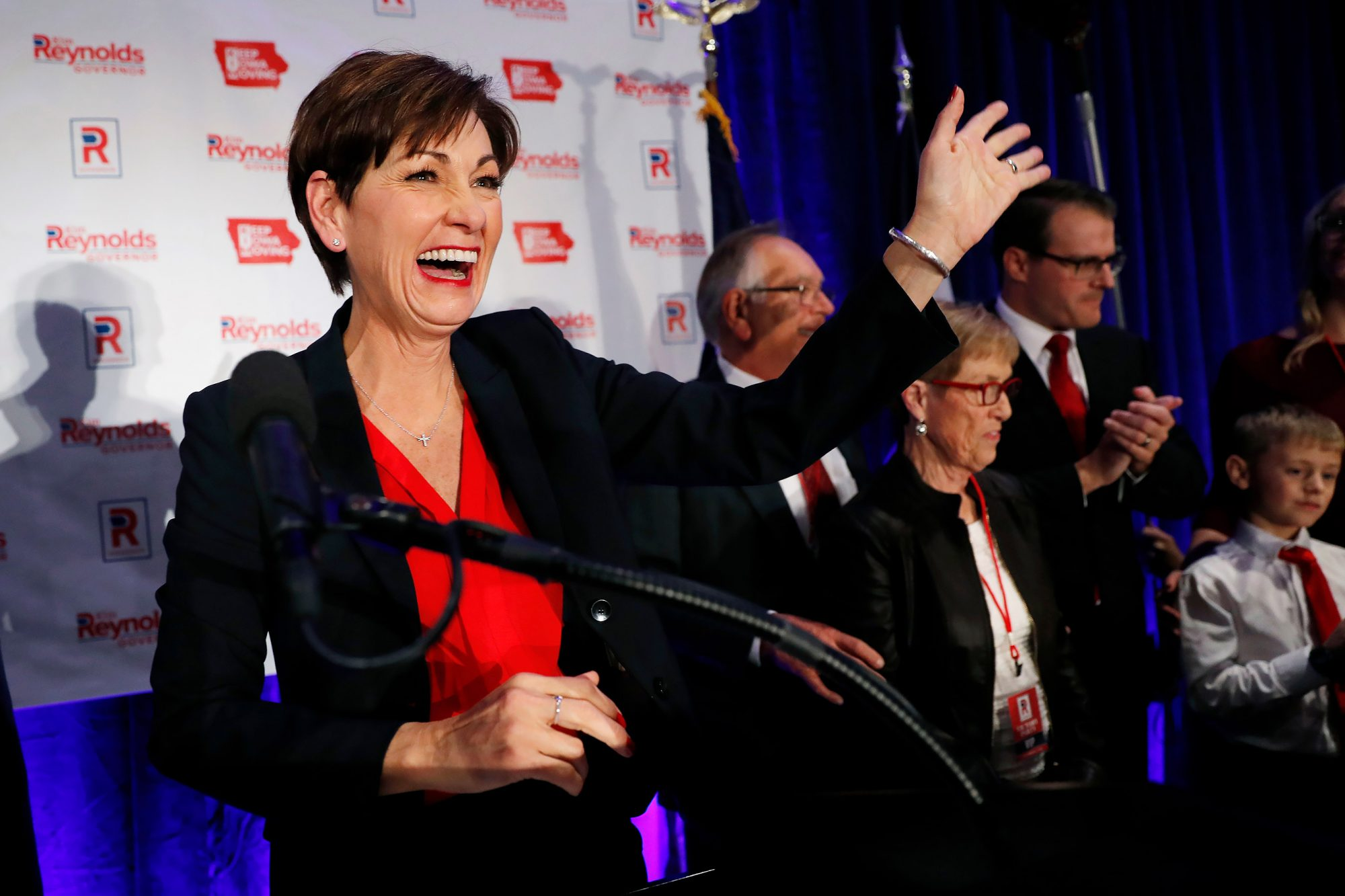 Election 2018 Governor Reynolds Iowa, Des Moines, USA - 07 Nov 2018