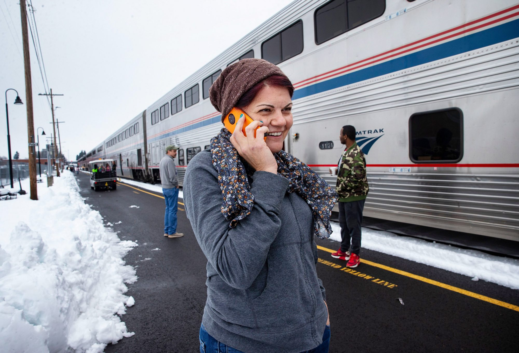 Stranded Amtrak Train, Eugene, USA - 26 Feb 2019