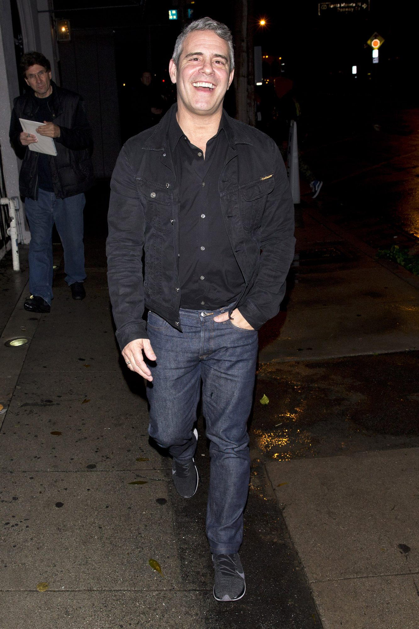 Father To Be!  Andy Cohen From 'The Real Housewives' Was Seen Leaving Dinner At 'Craigs' Restaurant In West Hollywood, Ca