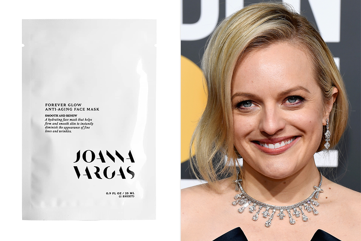 Elisabeth Moss and Joanna Vargas Forever Glow Anti-Aging face masks from Nordstrom