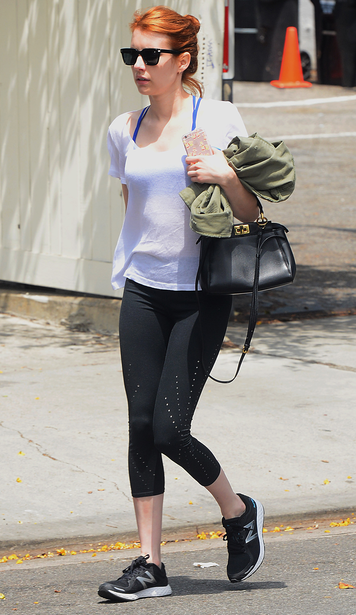 Emma Roberts Leaves a Gym in West Hollywood