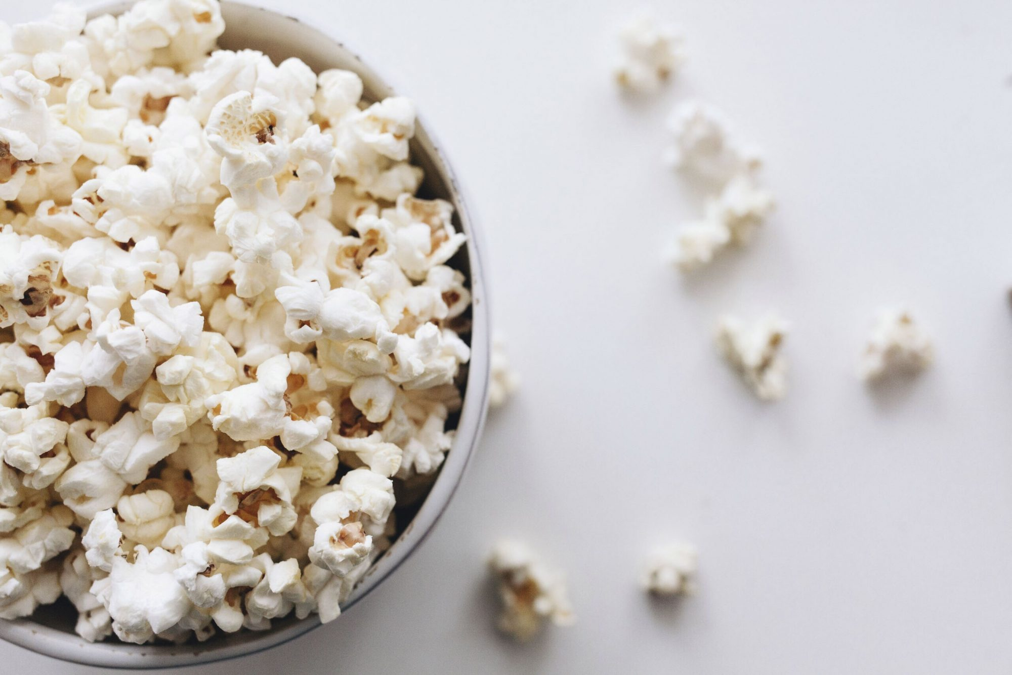 Close-Up Of Popcorn In Bowl On Table