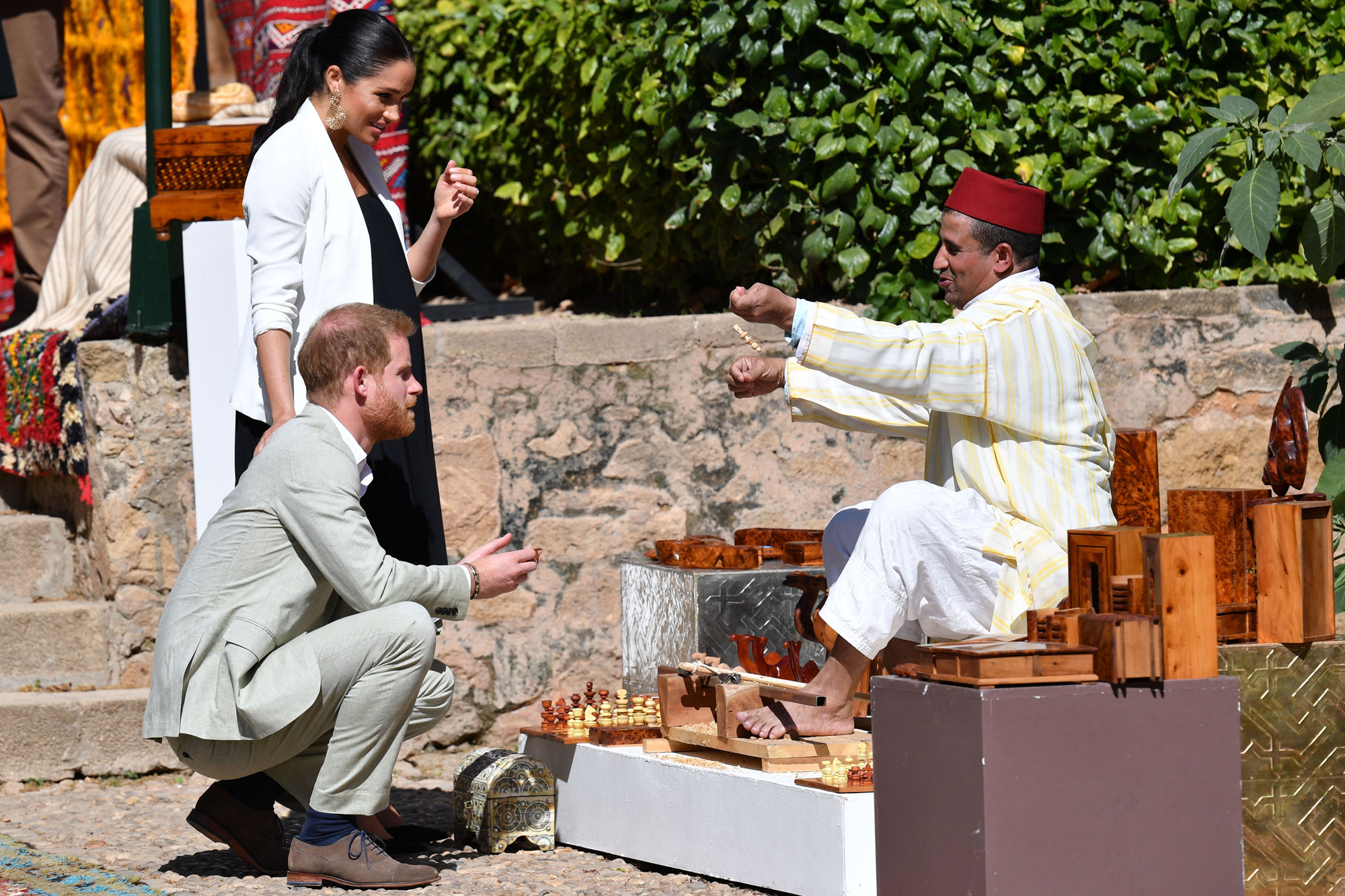 Prince Harry and Meghan Duchess of Sussex visit to Morocco - 25 Feb 2019