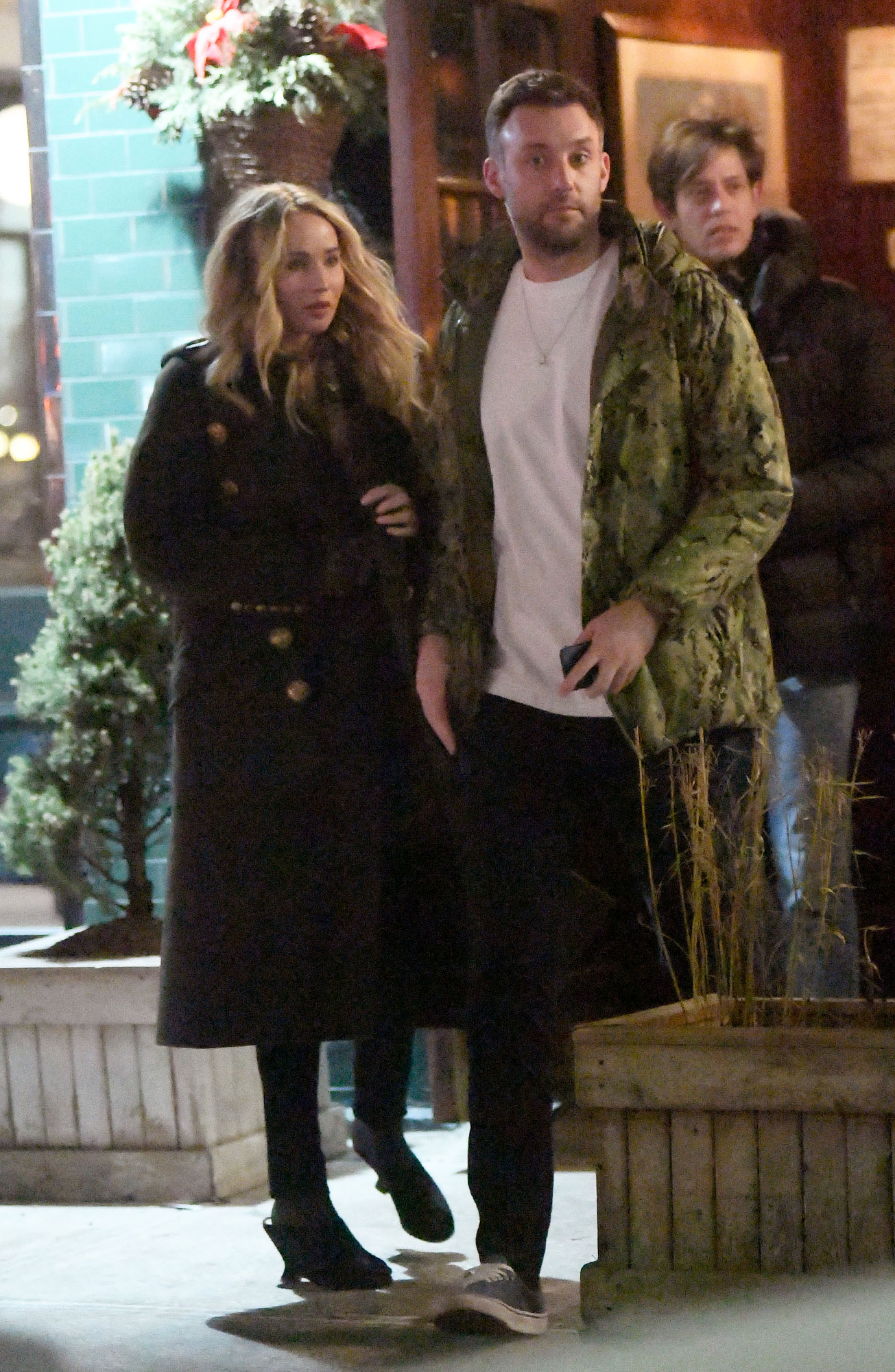 Jennifer Lawrence takes her beau out for dinner tonight in New York City