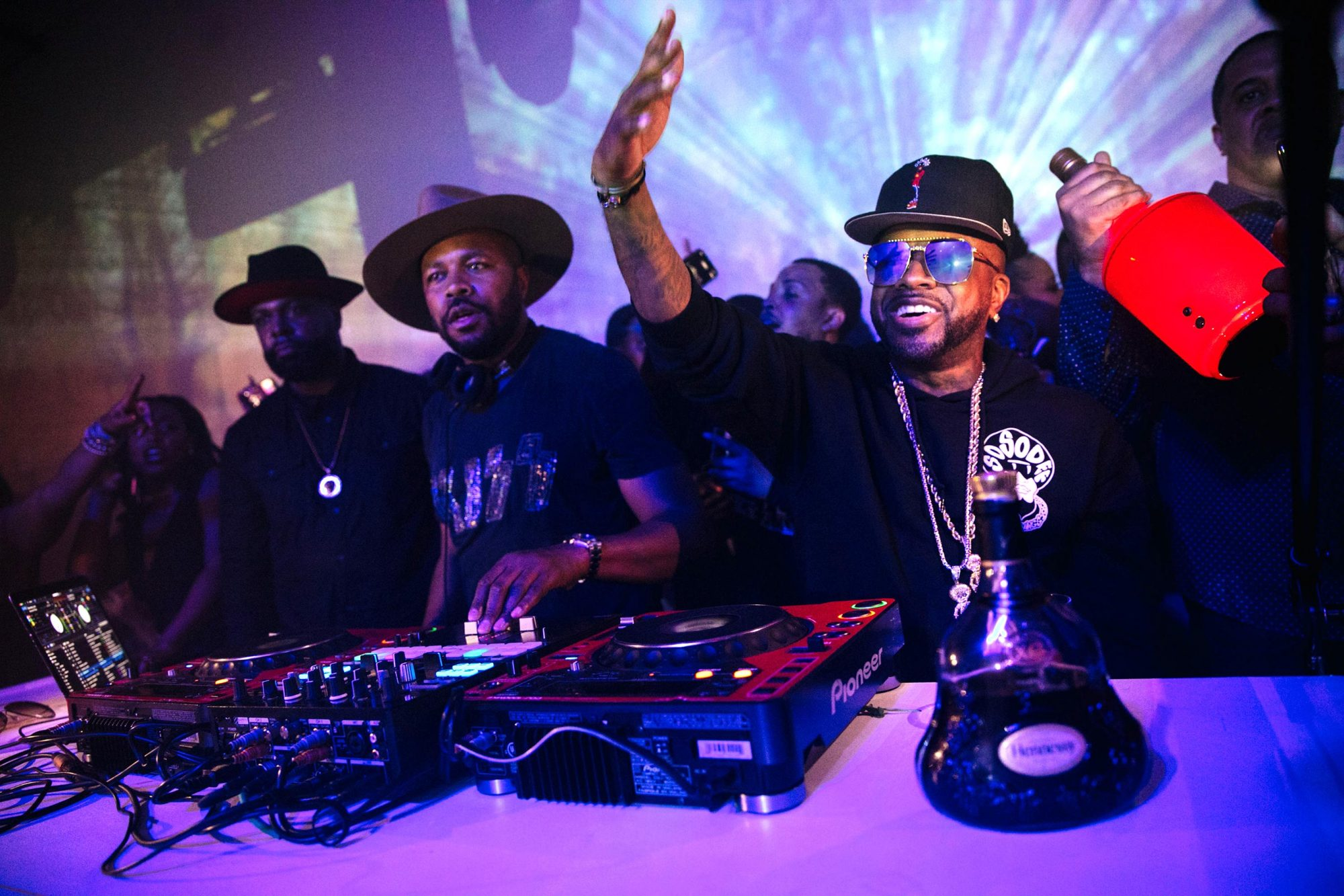 Jermaine Dupri and Hennessy celebrate those who Never Stop. Never Settle. during an exclusive Hennessy experience, DJ'd by D Nice, on Saturday in Atlanta. Credit: Lauren Cowart
