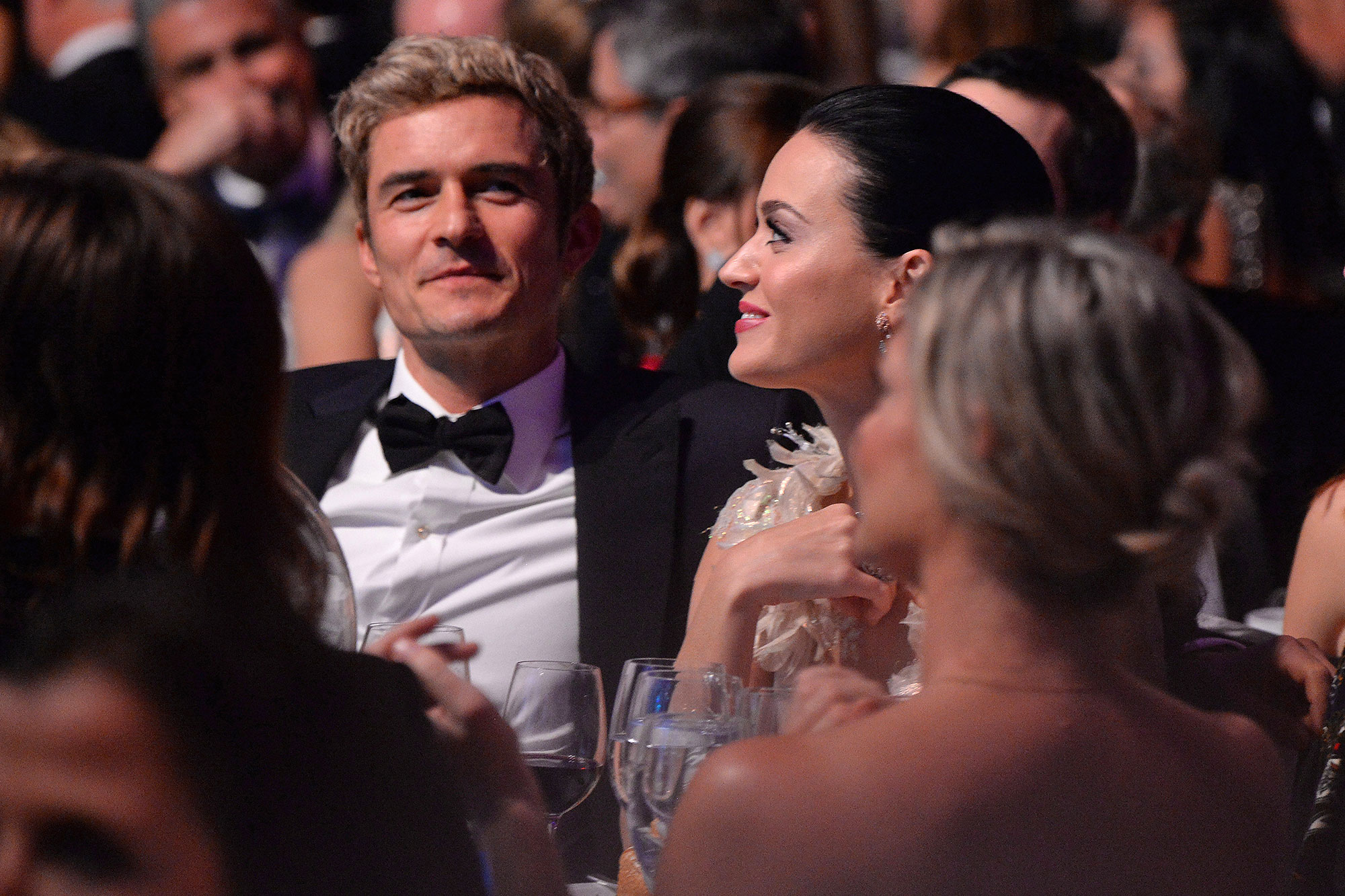 NEW YORK, NY - NOVEMBER 29: Orlando Bloom, Katy Perry, and Keith Hudson attend the 12th annual UNICEF Snowflake Ball at Cipriani Wall Street on November 29, 2016 in New York City. (Photo by Kevin Mazur/Getty Images for UNICEF )